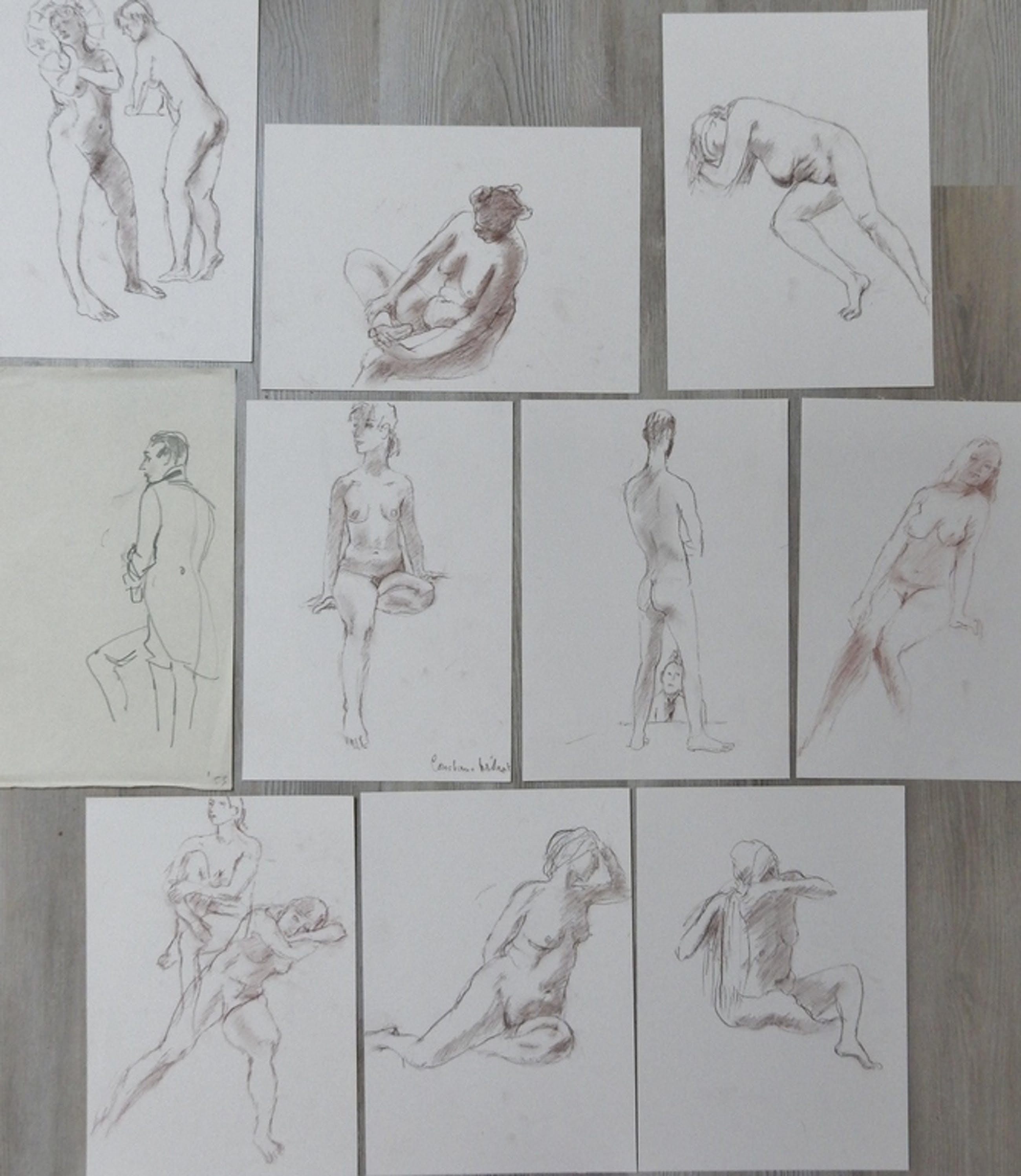Constance Wibaut (1920-2014) - serie naakten 10x kopen? Bied vanaf 50!