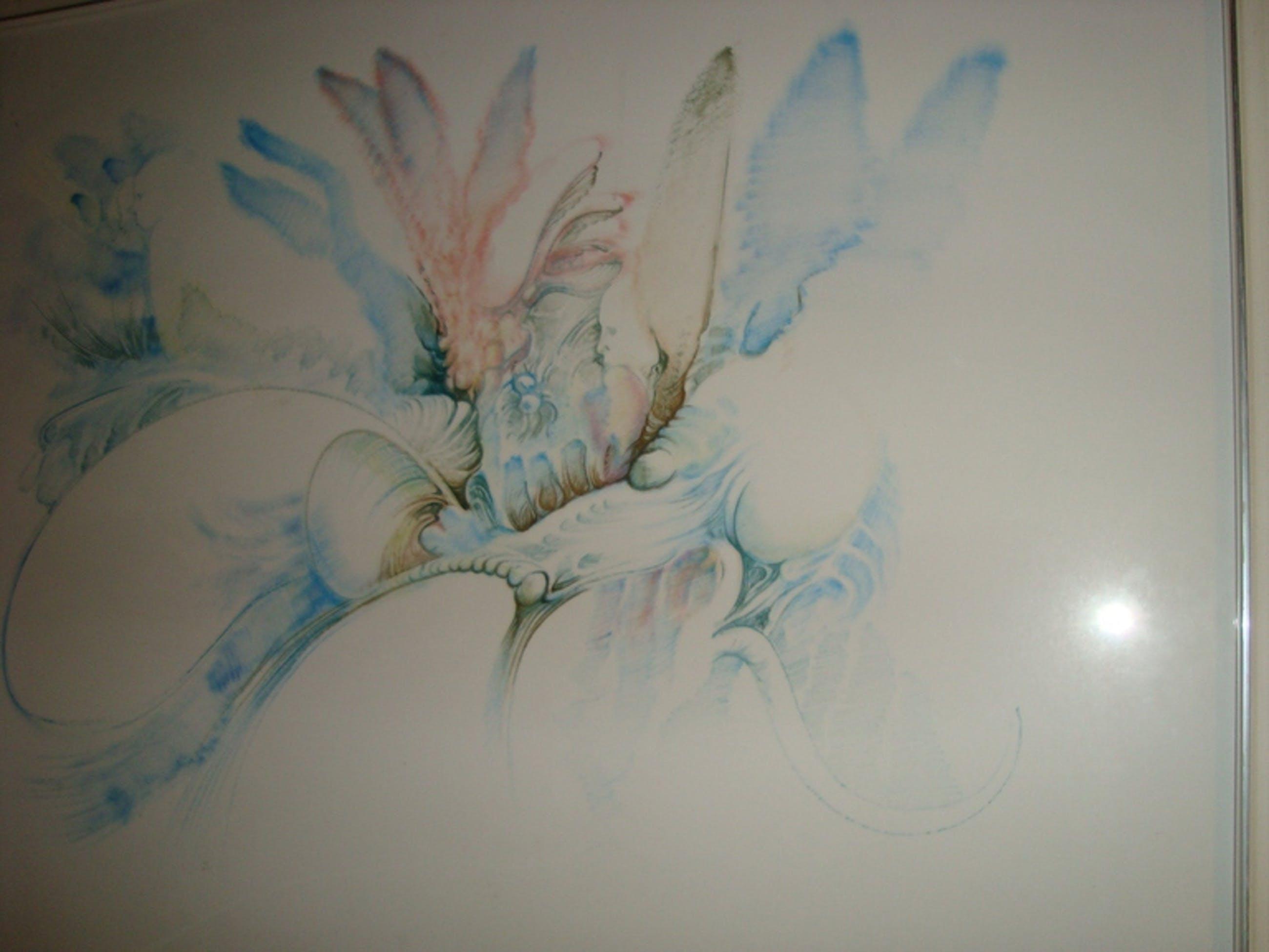 Victor Linford, olieverf op papier, surrealistisch werk  kopen? Bied vanaf 350!