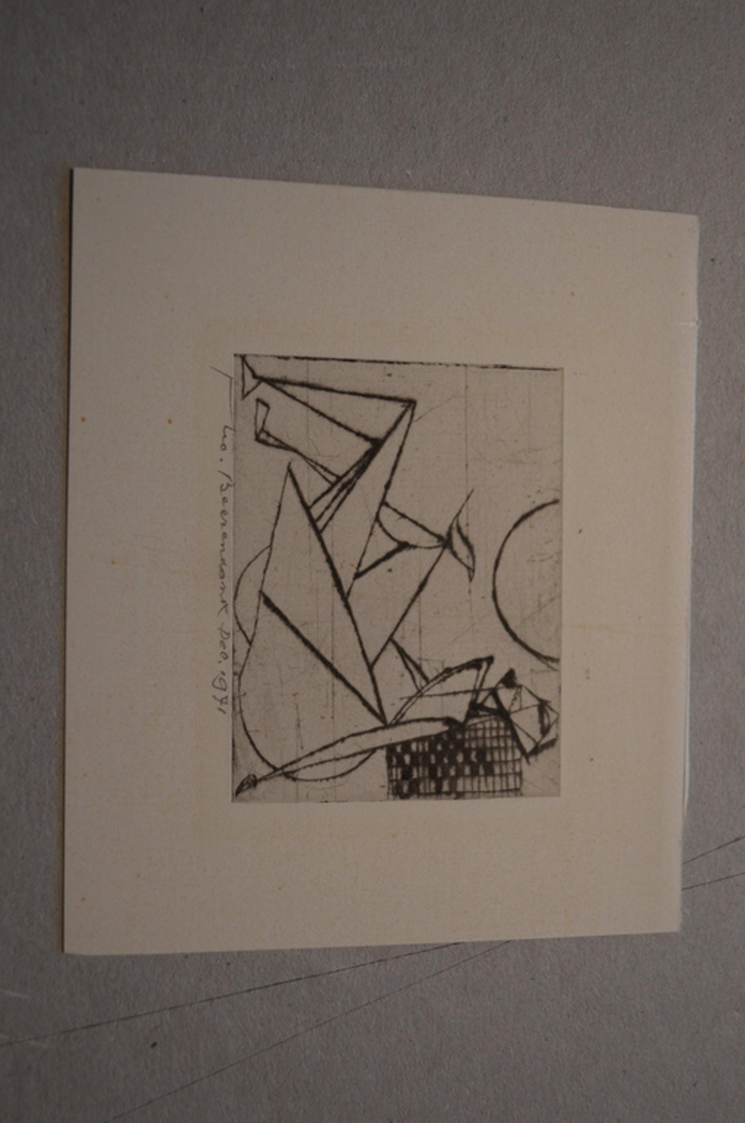 Theo Beerendonk ( 1905-1979) ets, naakt, 12.1971 - 6,5 x 7 (11 x 9 )  kopen? Bied vanaf 20!