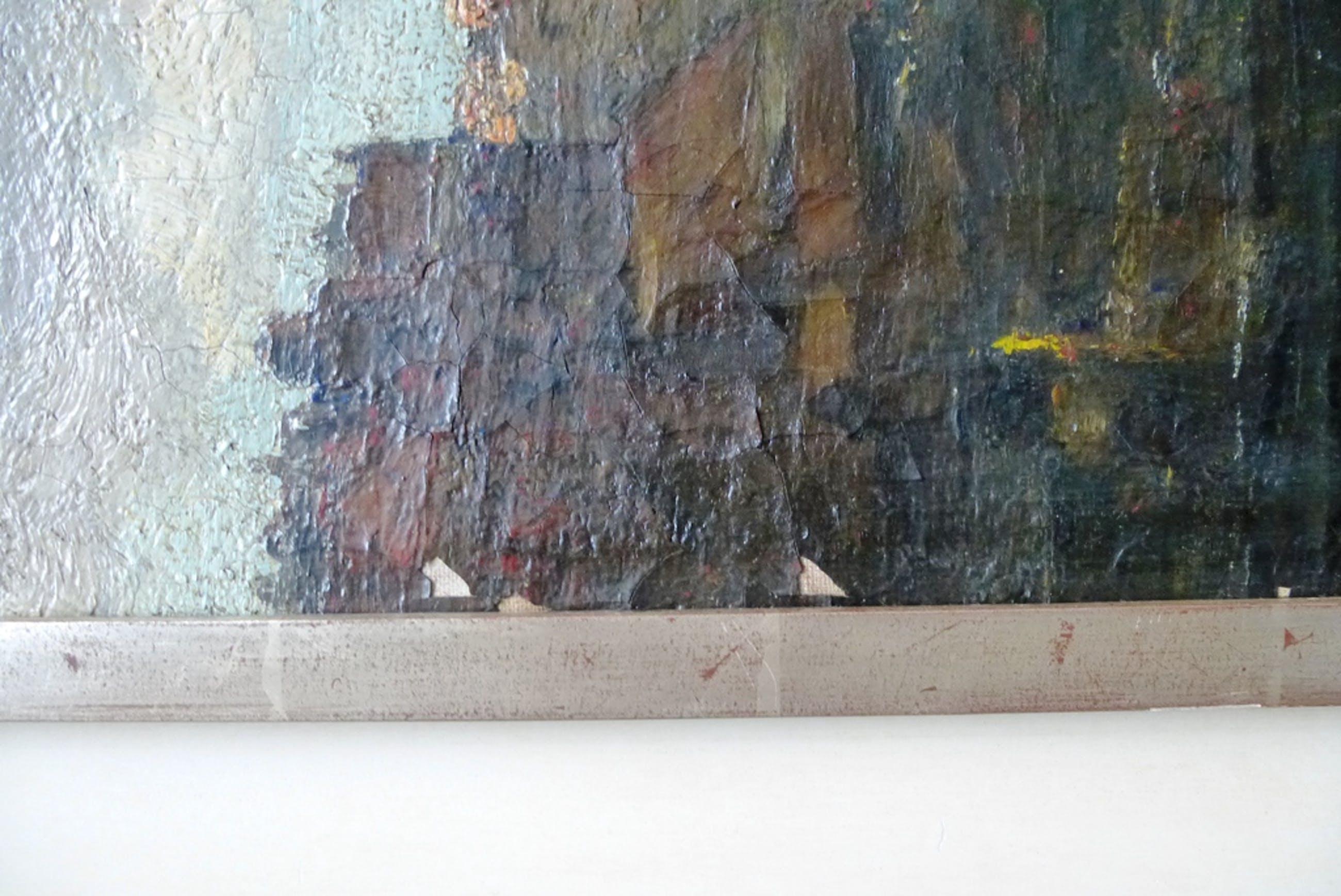 Hermann Heijenbroch, olieverf op doek: Gezicht op Delft kopen? Bied vanaf 275!