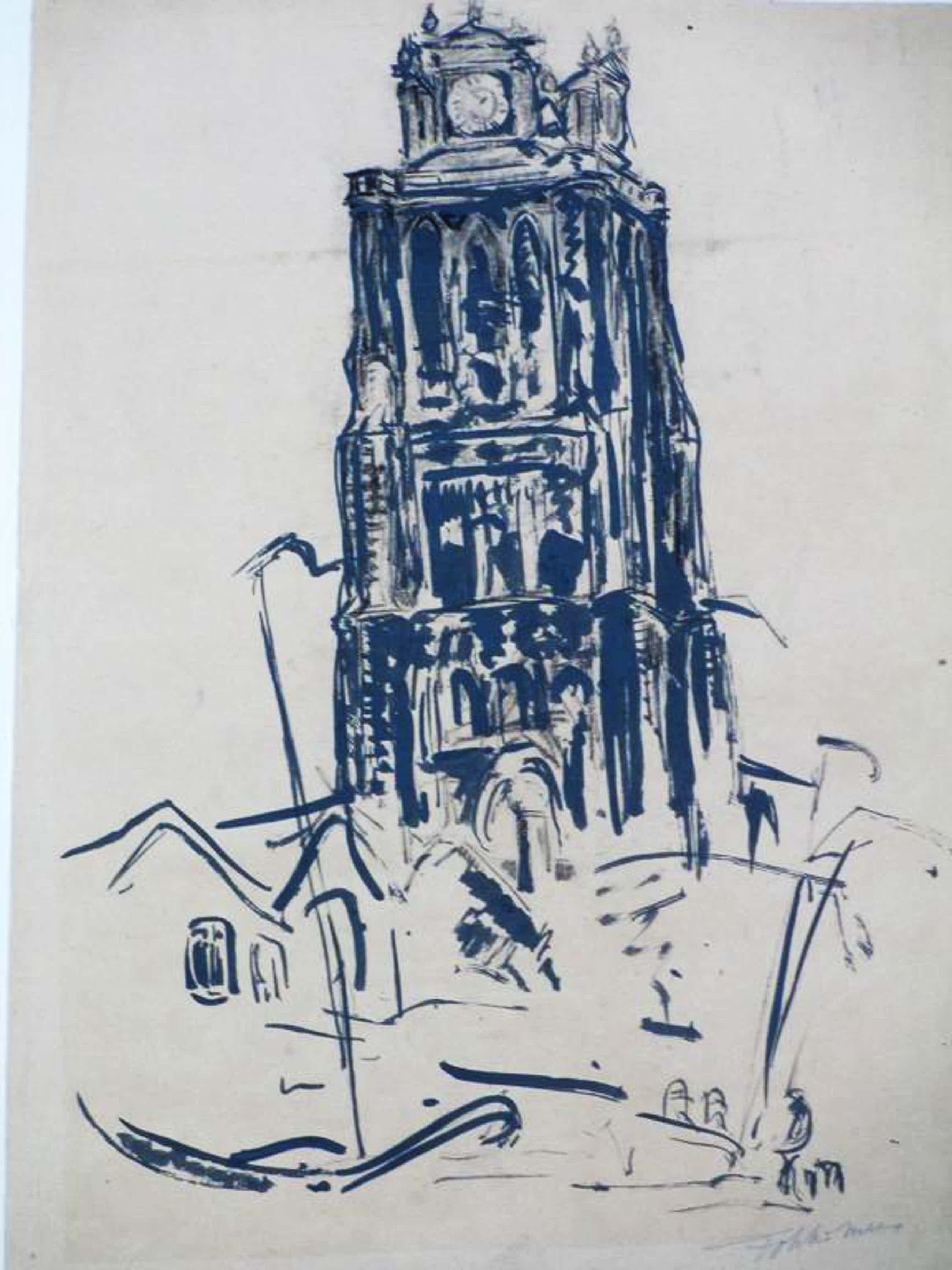 Fokko Mees, Grote Kerk Dordrecht, Tekening kopen? Bied vanaf 70!