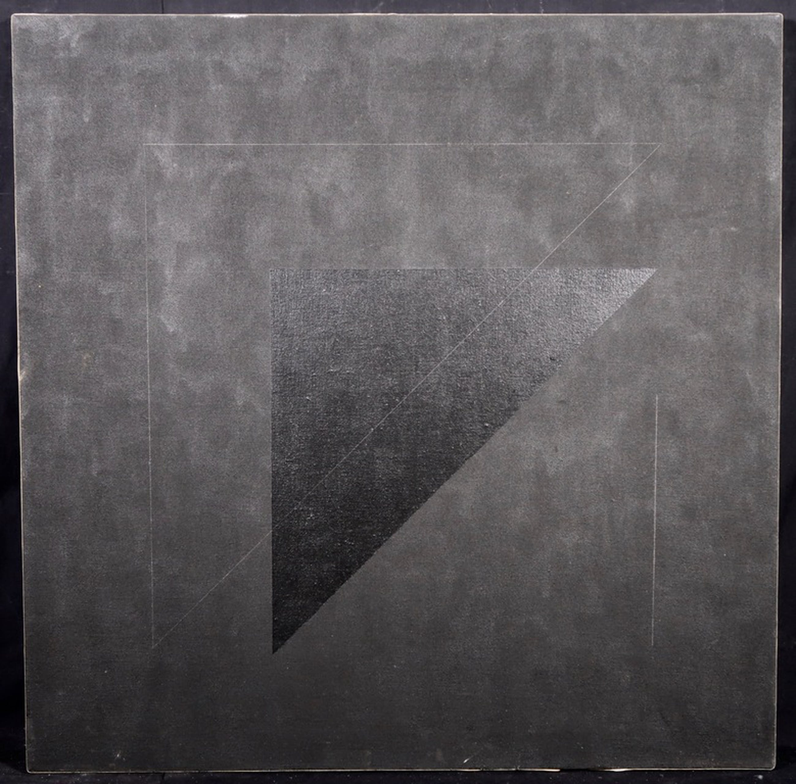 Ellen Banks: Acryl op doek, Z.T. Abstracte compositie in zwart kopen? Bied vanaf 150!