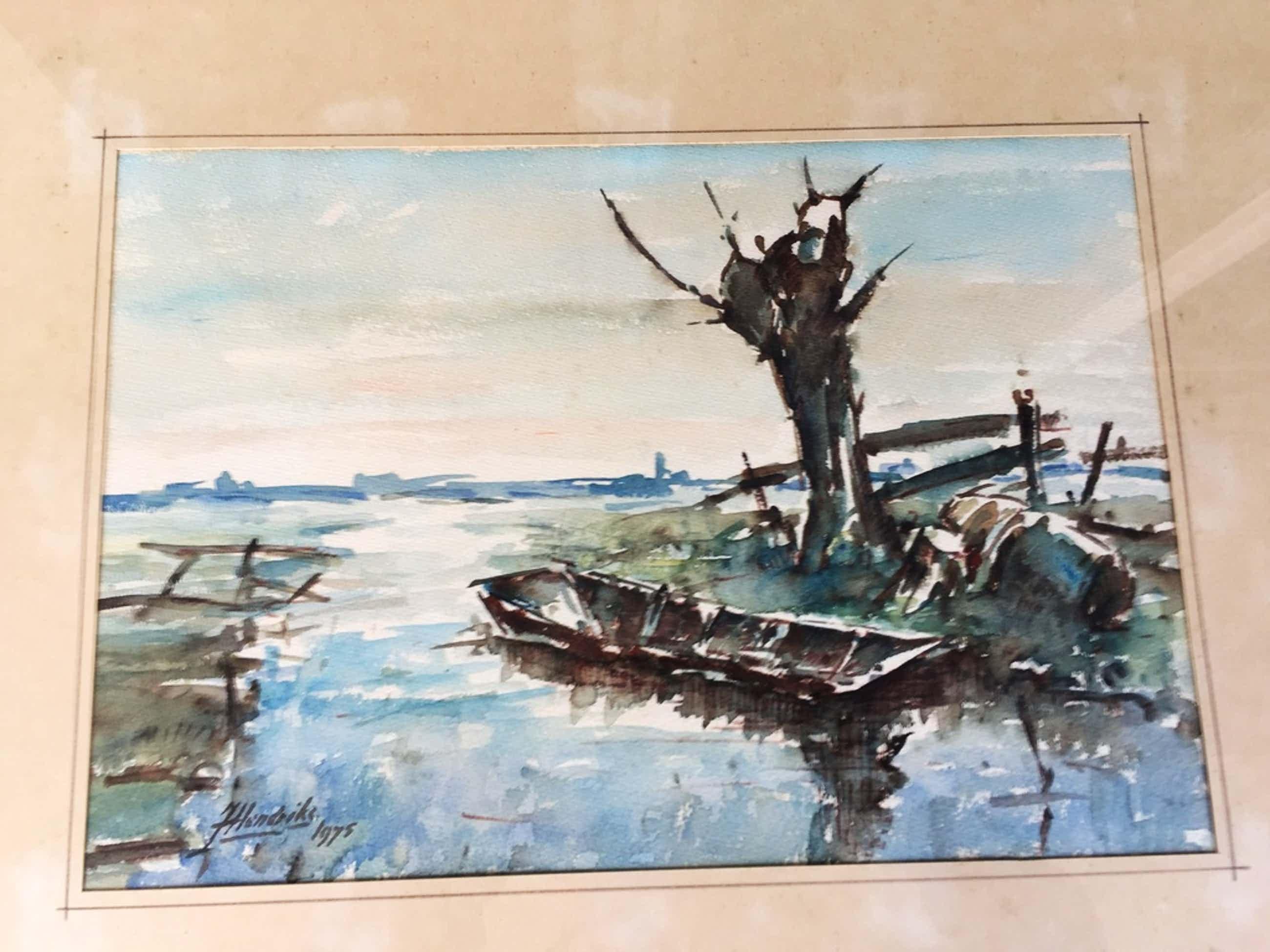 Jan Hendriks aquarel  kopen? Bied vanaf 35!