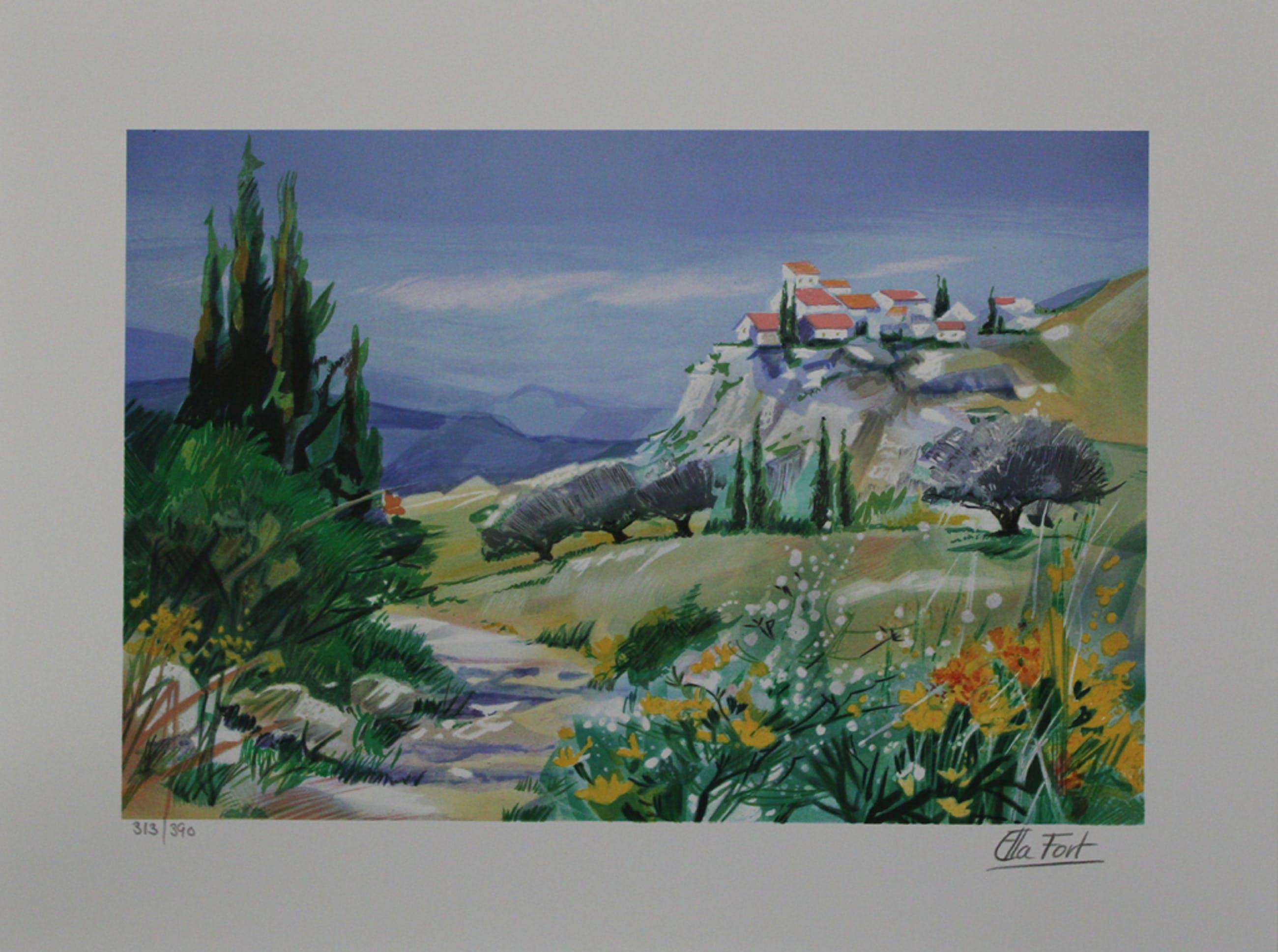 Ella Fort, Lente in Bretagne, Schitterende Kleuren Lithografie kopen? Bied vanaf 1!
