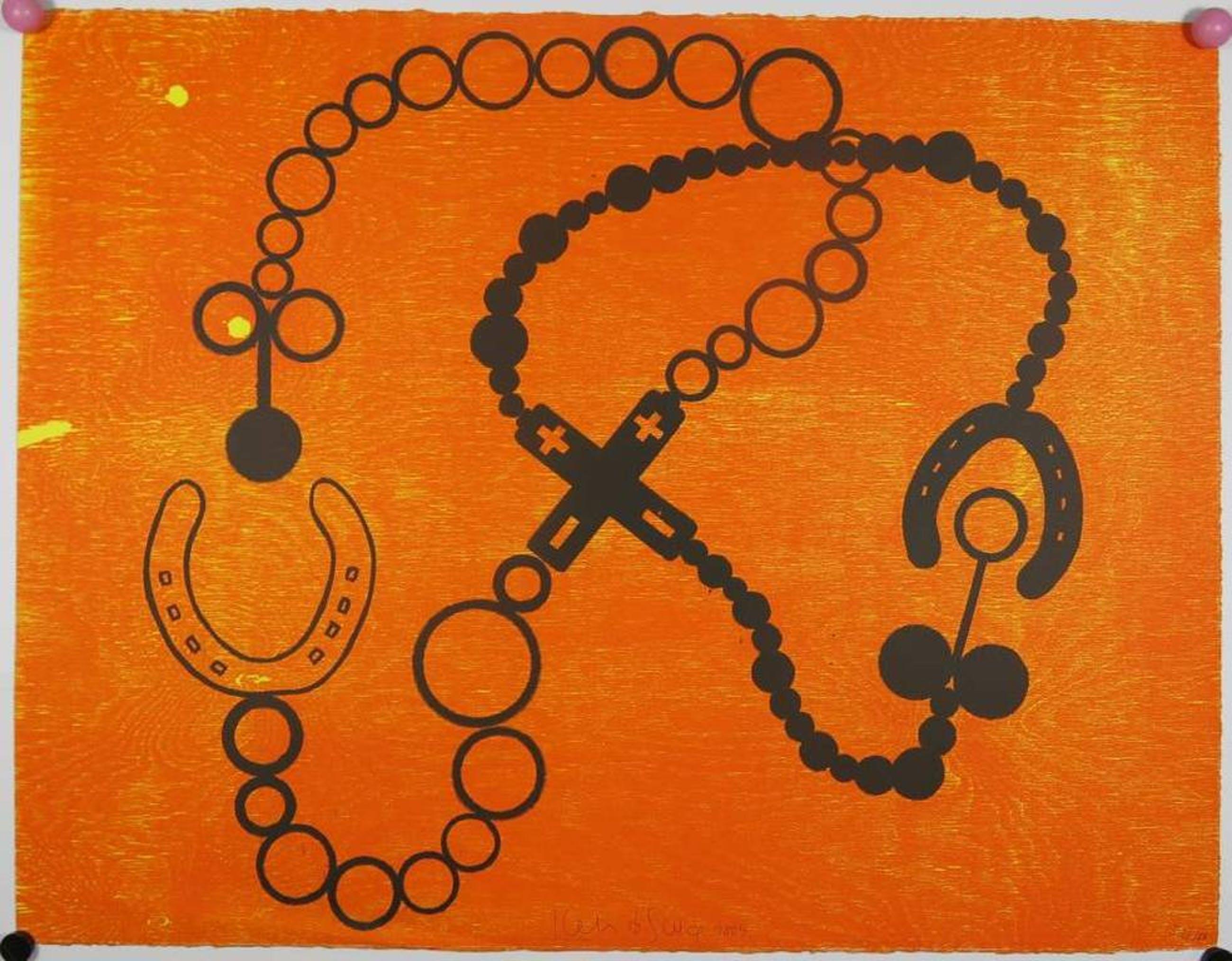 Kees de Goede: Houtsnede, Oranje met hoefijzer kopen? Bied vanaf 1!