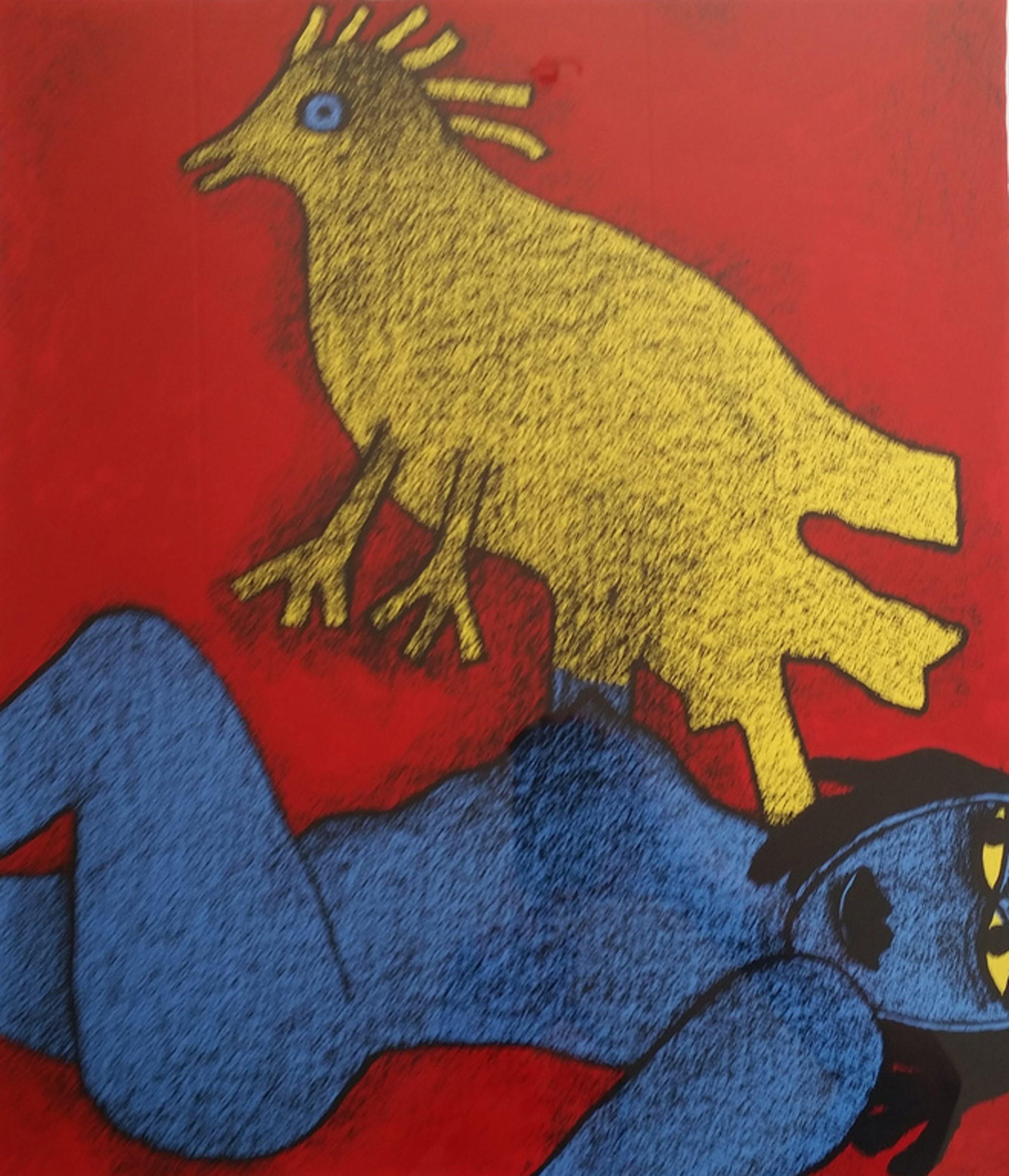 Corneille, gesigneerde zeefdruk, 1992, oplage 250 ex. kopen? Bied vanaf 199!