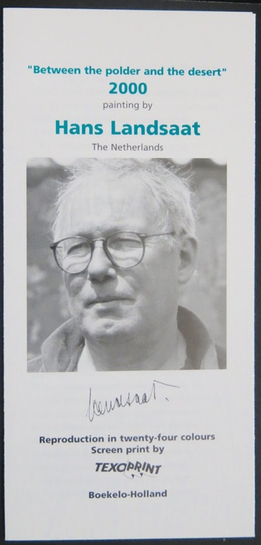 Hans Landsaat: Zeefdruk op katoenzijde, Between the polder and the desert kopen? Bied vanaf 1!