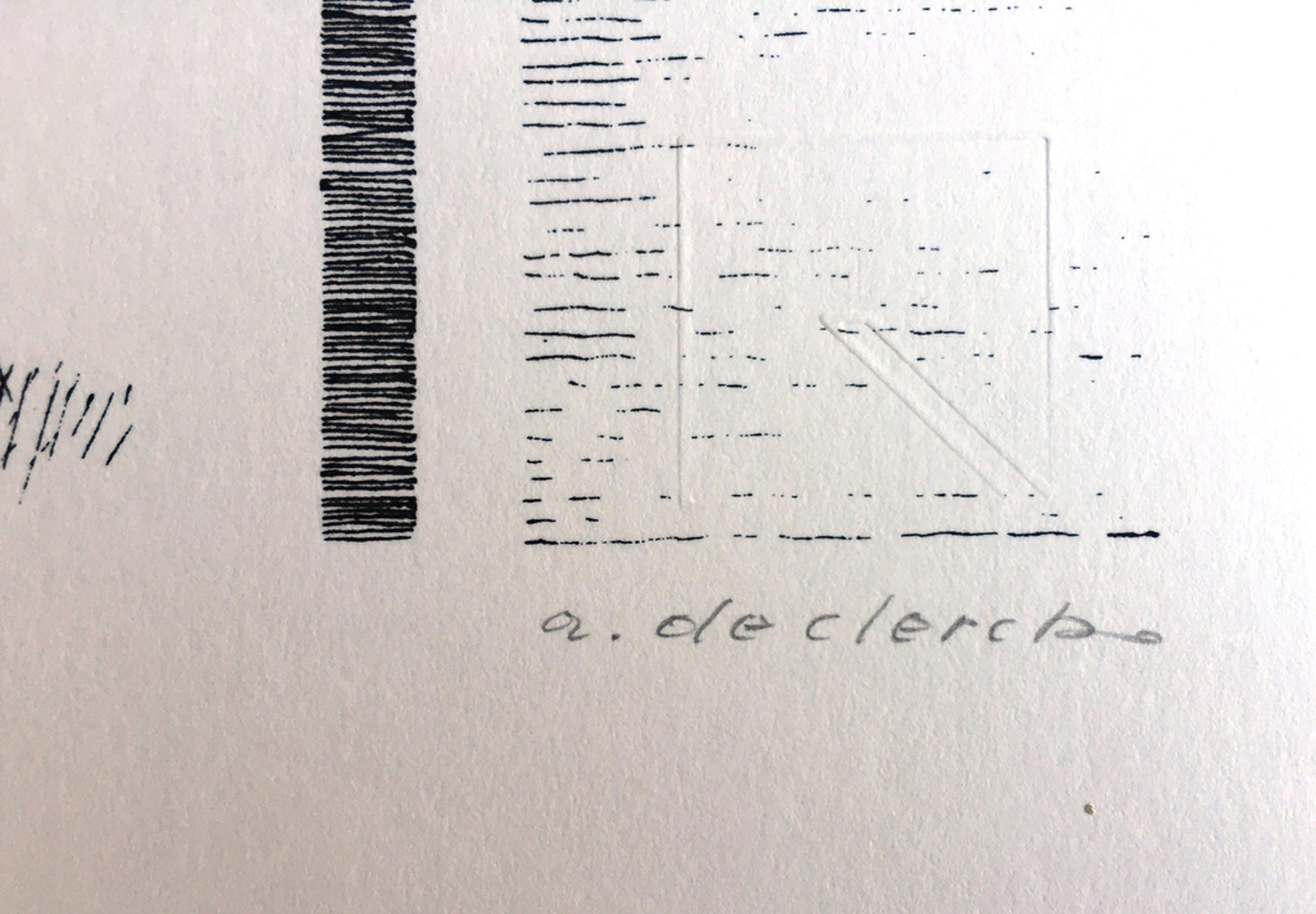 Antoon de Clerck - Zittend figuur - Gesigneerde zeefdruk - 1987 kopen? Bied vanaf 25!