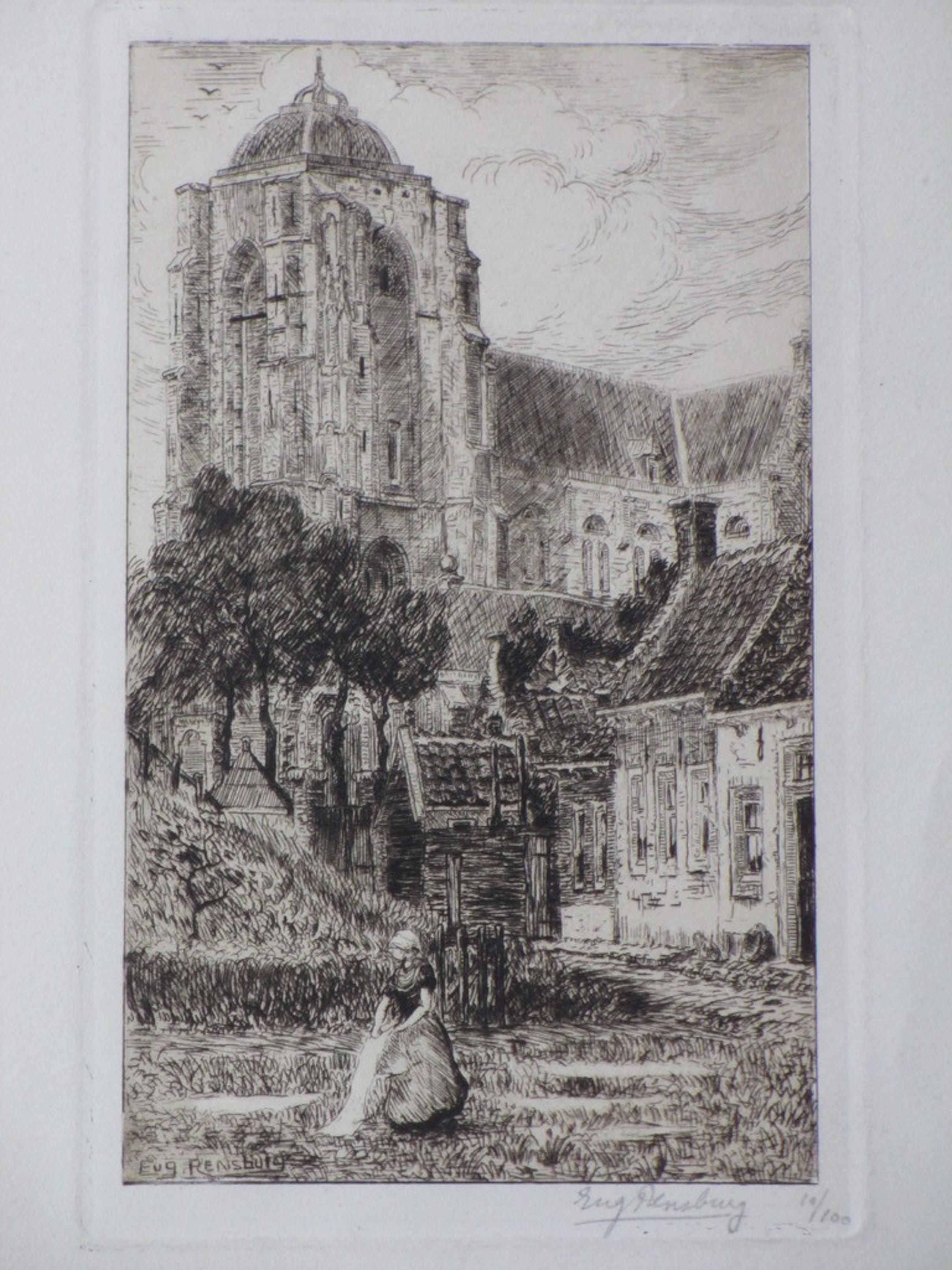 Eugene Rensburg, Kerktoren in Veere, Ets kopen? Bied vanaf 1!