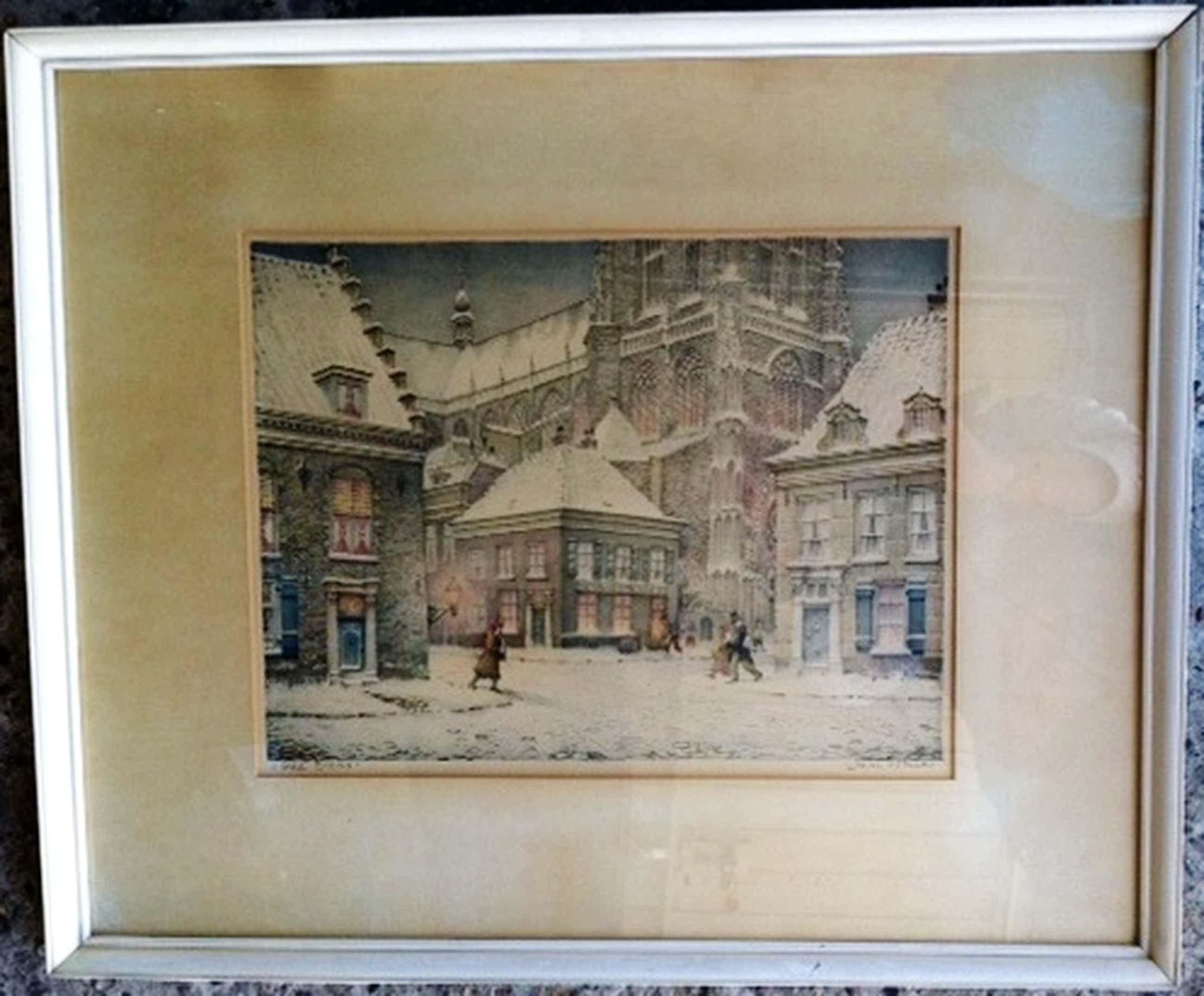 Prachtige litho JAN STRUBE - 1892-1985  van oud Breda  64 X 53 cm = gesigneerd kopen? Bied vanaf 50!
