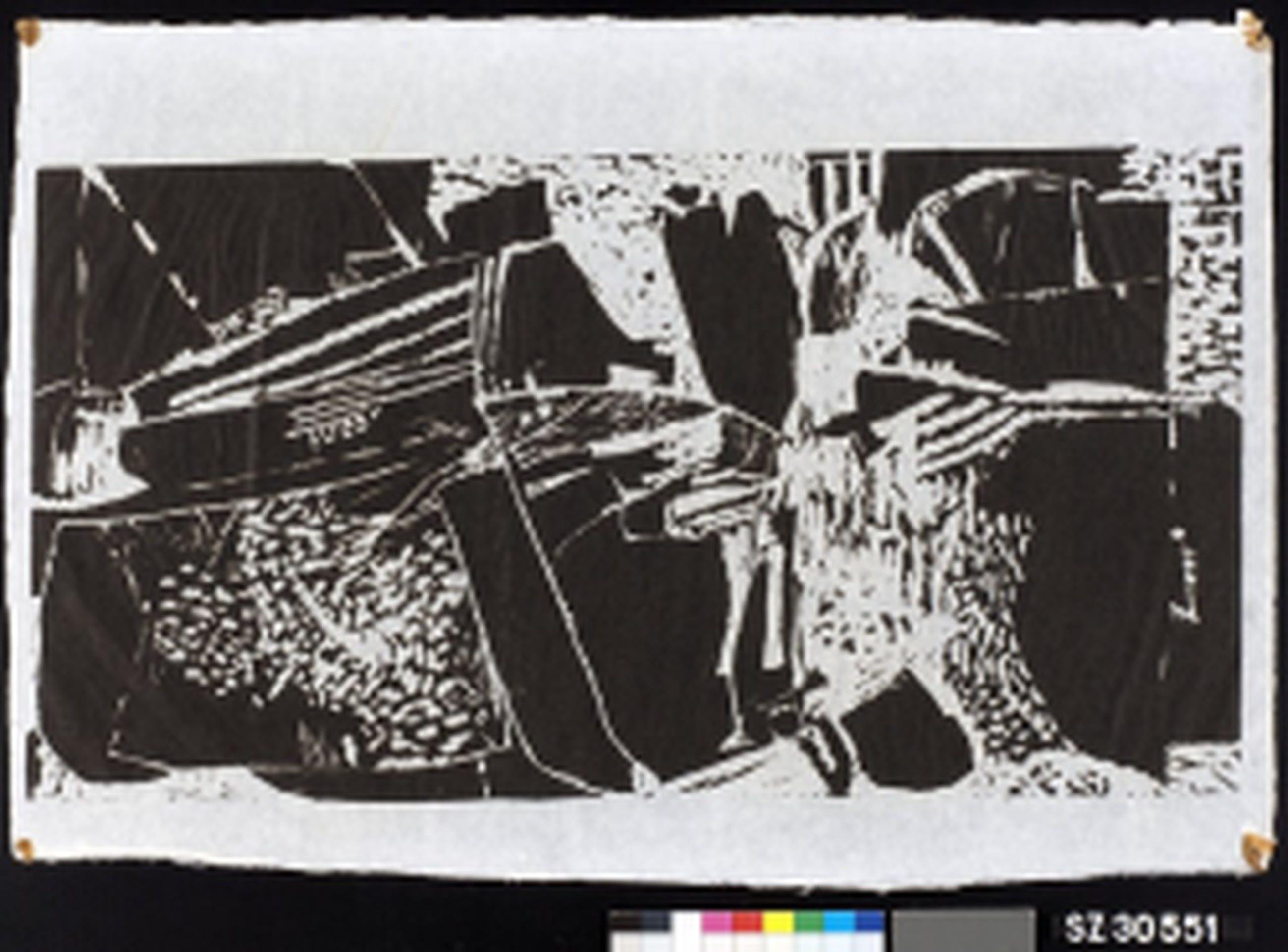 Roy, G.L. le: Houtsnede afdruk, Compositie I  kopen? Bied vanaf 75!