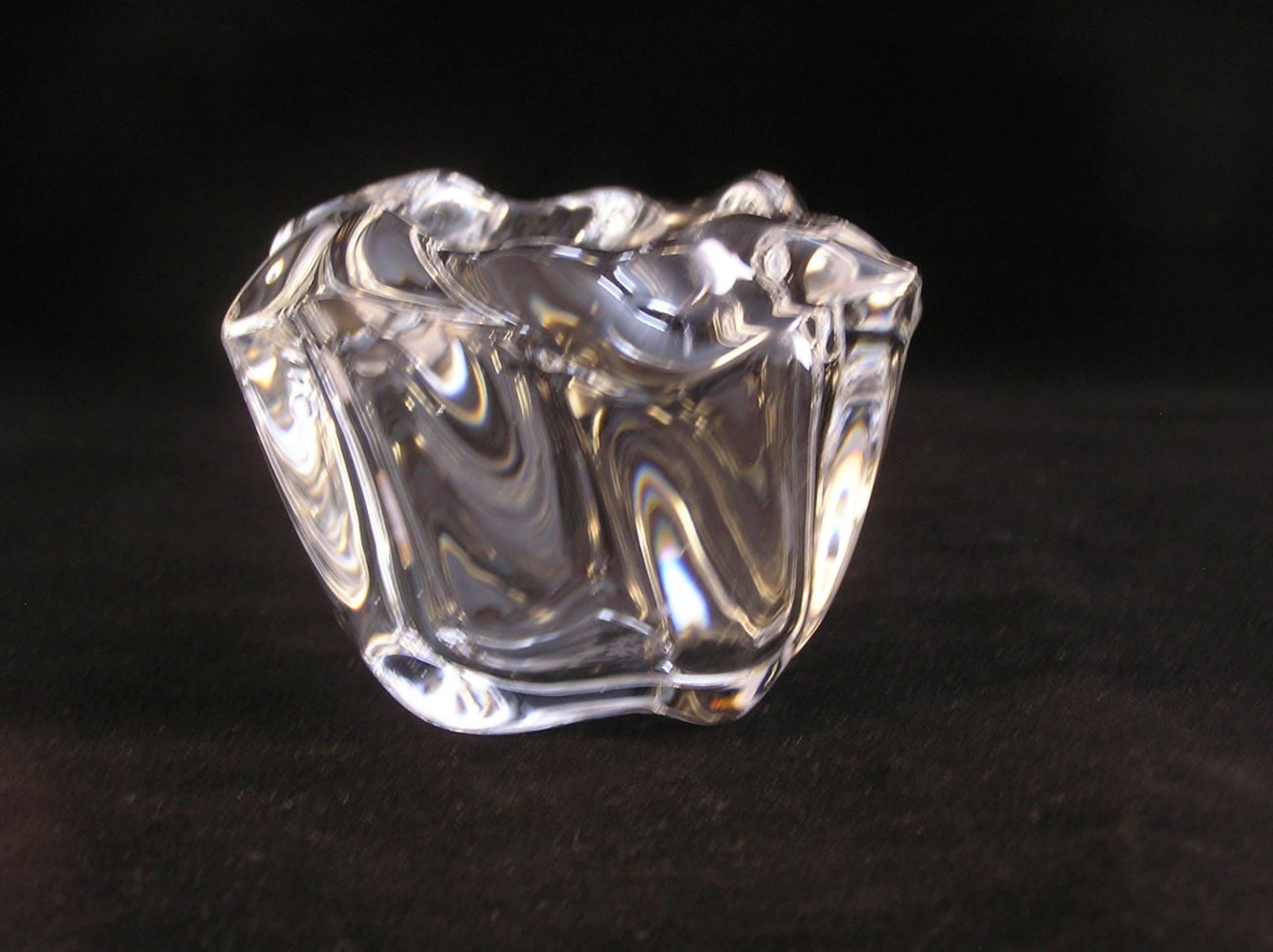 """Holmegaard, kristallen theelichthouder """"Galaxy"""" ontwerp Alan Scharff kopen? Bied vanaf 8!"""