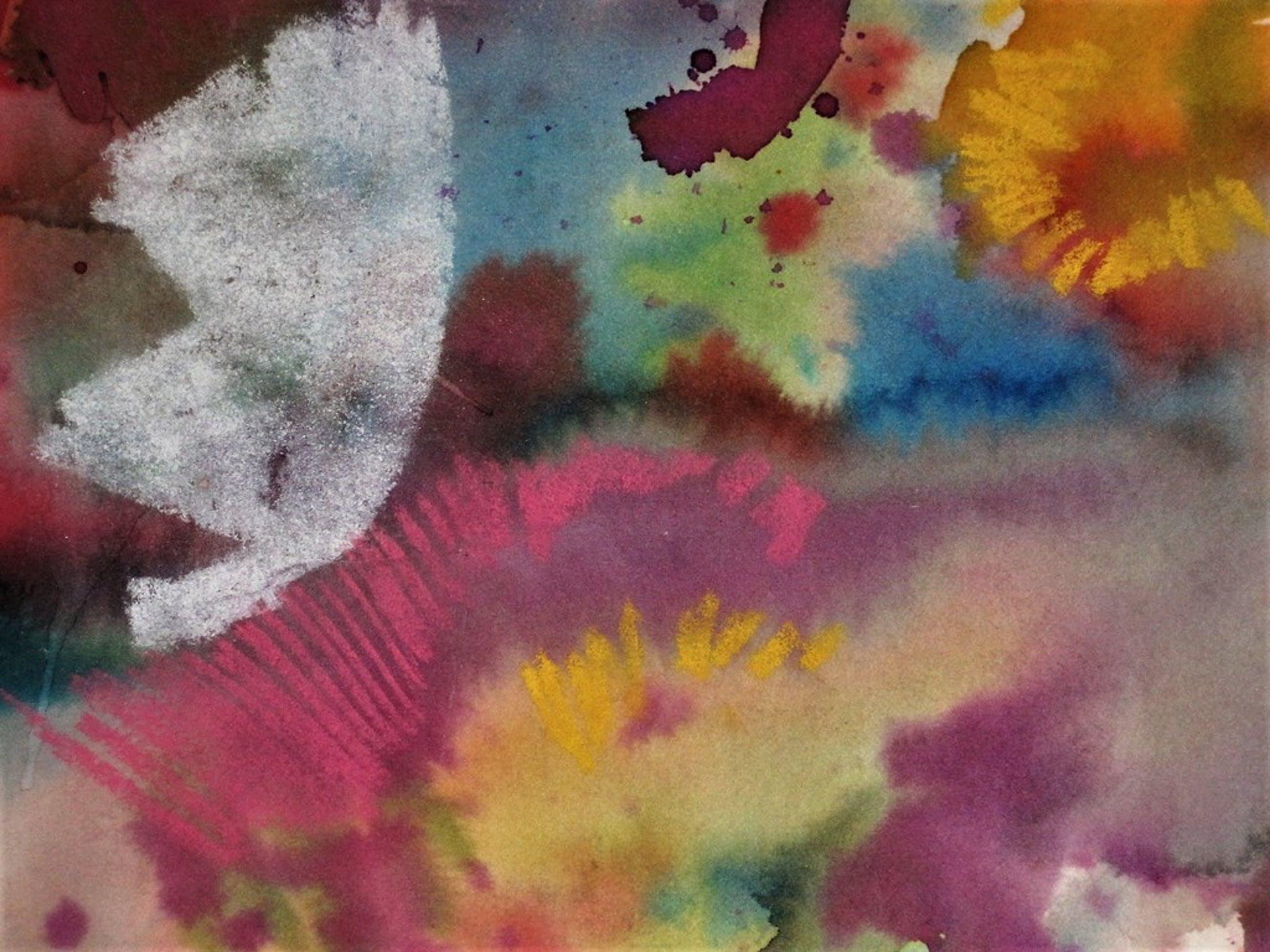 "Uniek 1981 gesigneerd Walasse Ting Aquarel ""Flowers""  (Sam Middleton collectie) kopen? Bied vanaf 850!"