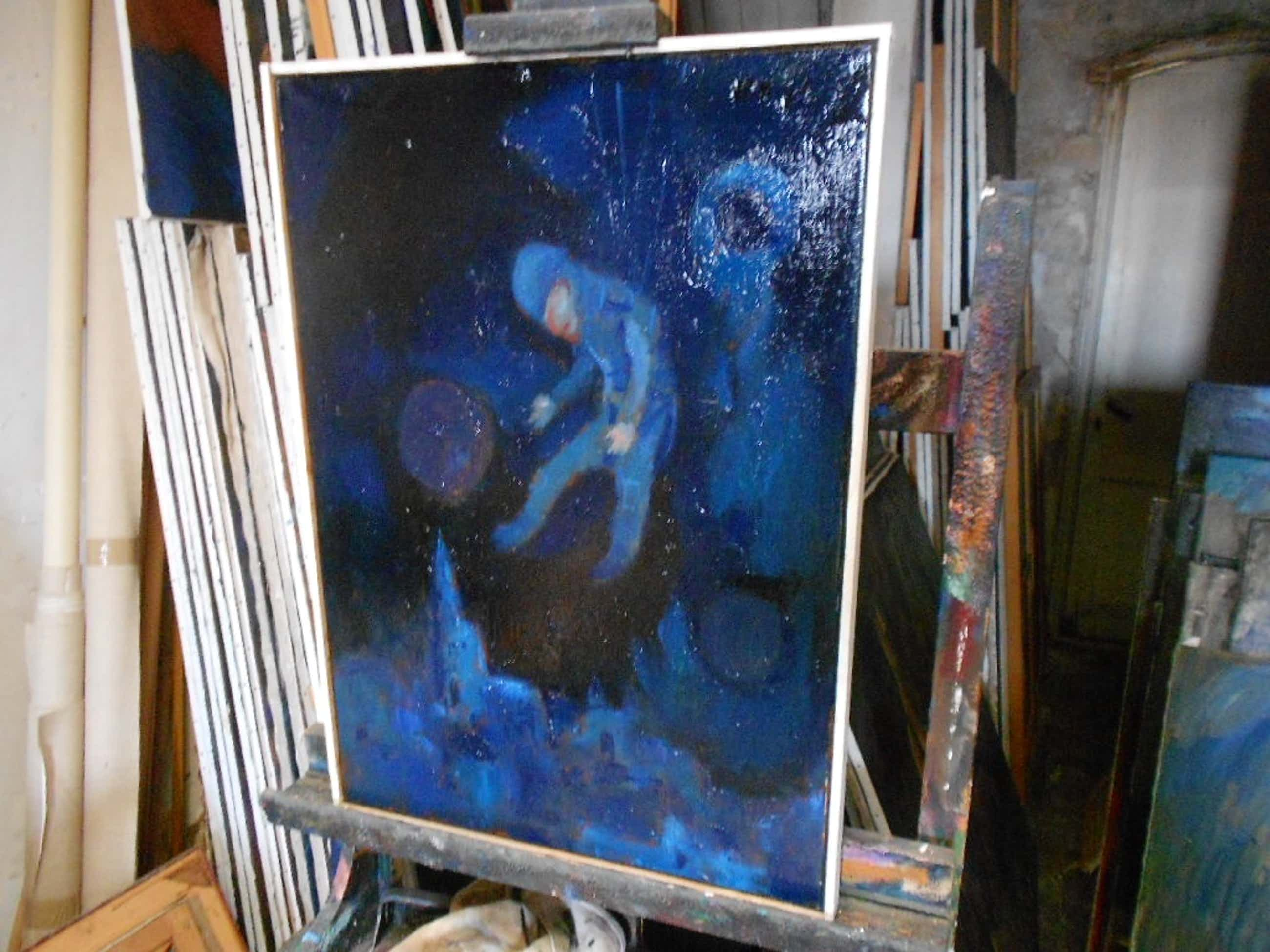 Theo van der Horst olieverfschilderij op linnen Airborne kopen? Bied vanaf 75!