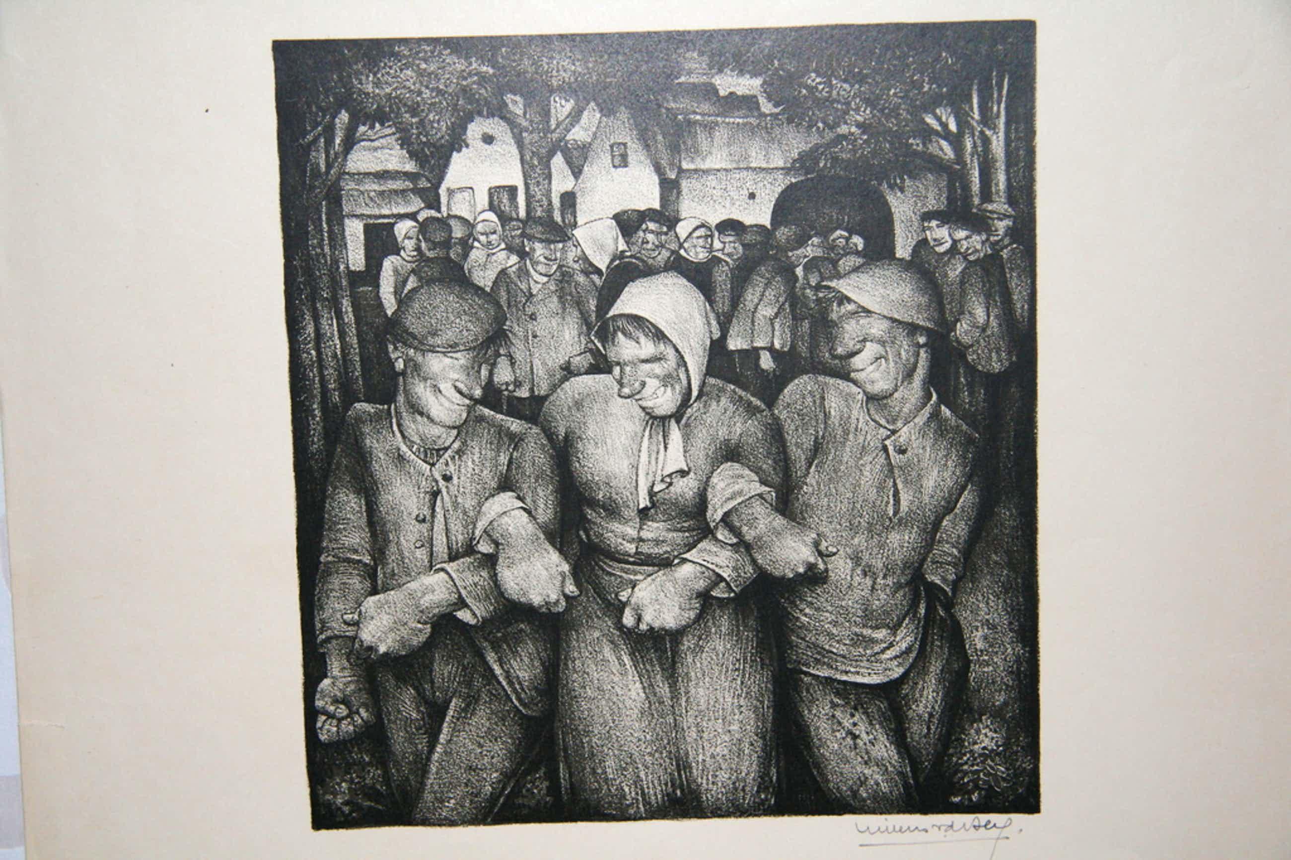 Willem van den Berg, Lithografie, Boerenkermis kopen? Bied vanaf 35!