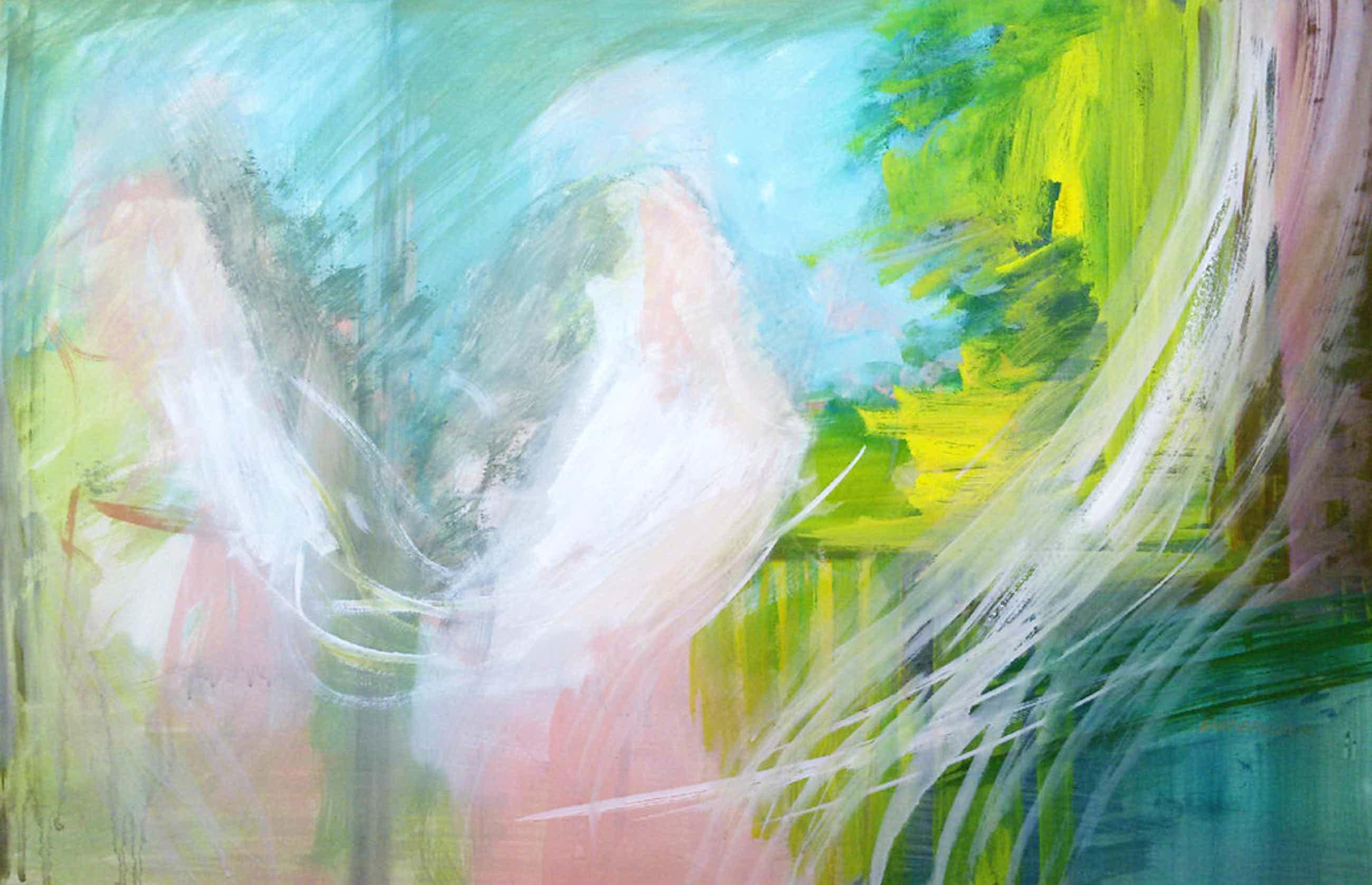 Laatste keer: Bert Bruijn - Figuratief abstract, gouache (ingelijst, groot) kopen? Bied vanaf 55!