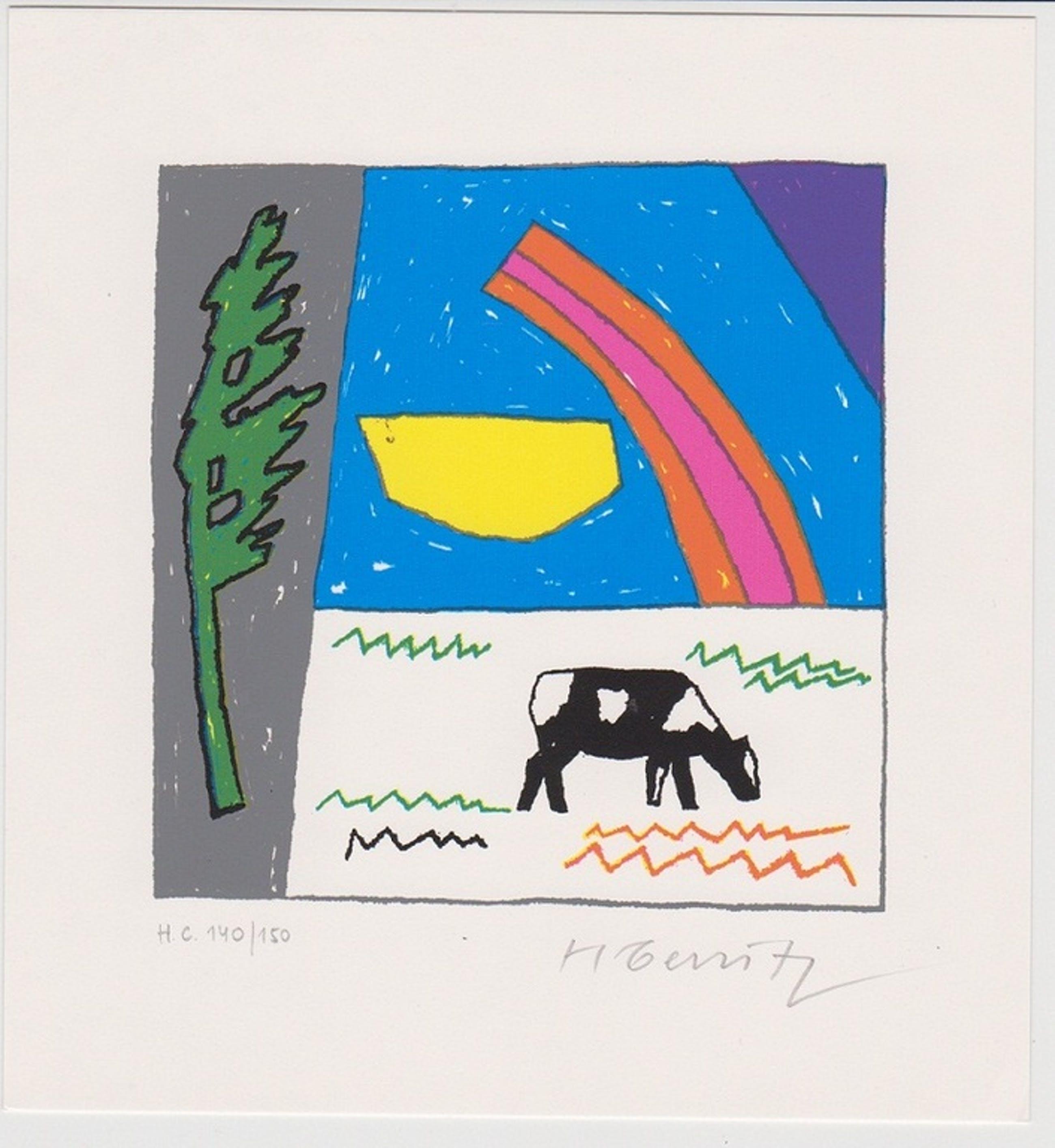 Harri Gerritz, Lithografie: Koe kopen? Bied vanaf 10!