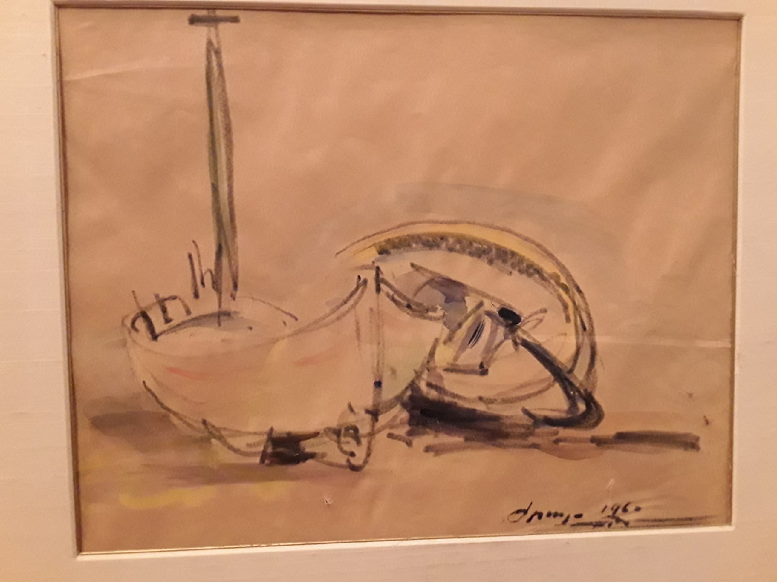 Wim Bosma tekening/aquarel. kopen? Bied vanaf 20!