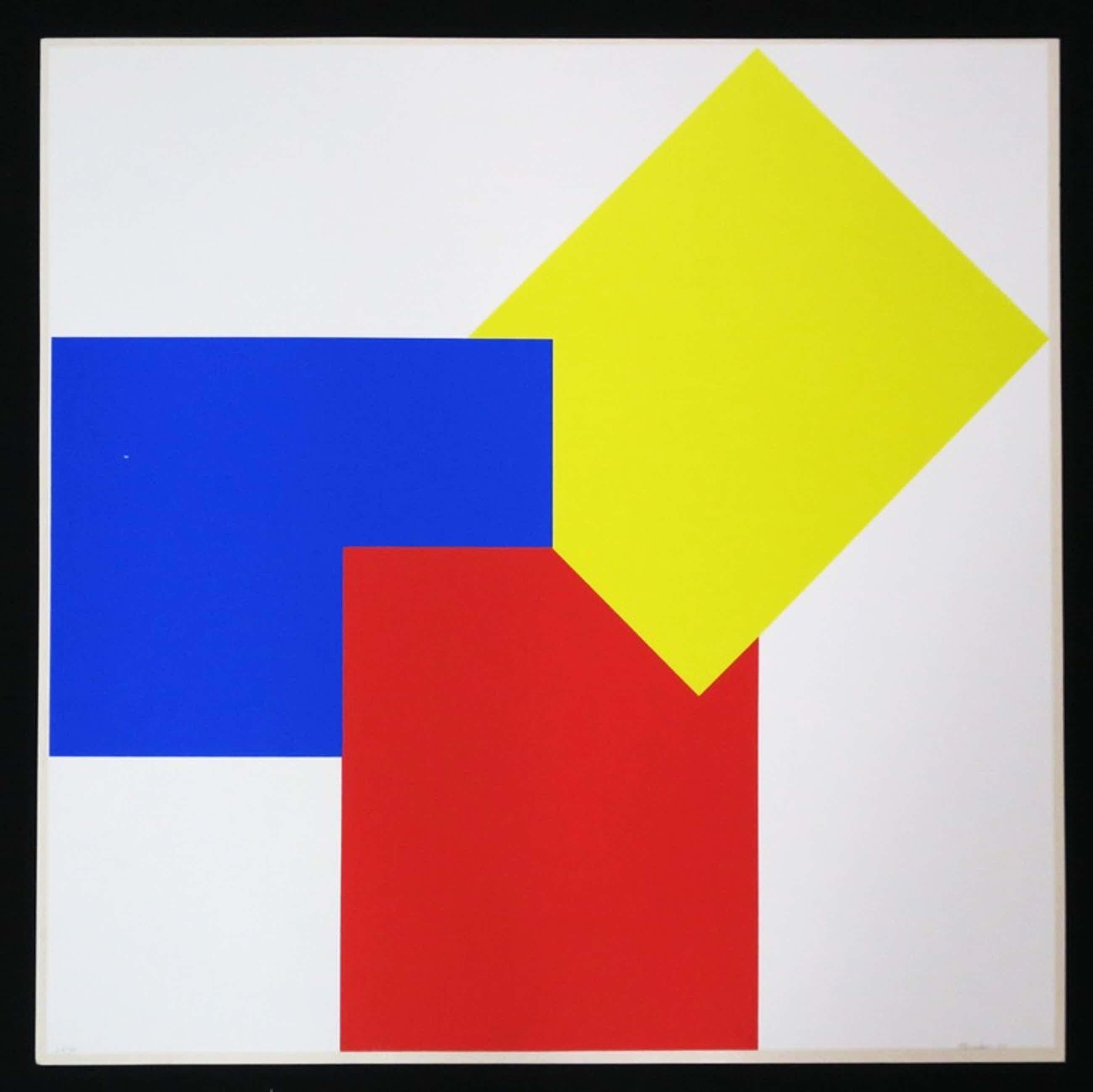 Bob Bonies: Zeefdruk, Geometrische compositie (groot) kopen? Bied vanaf 80!