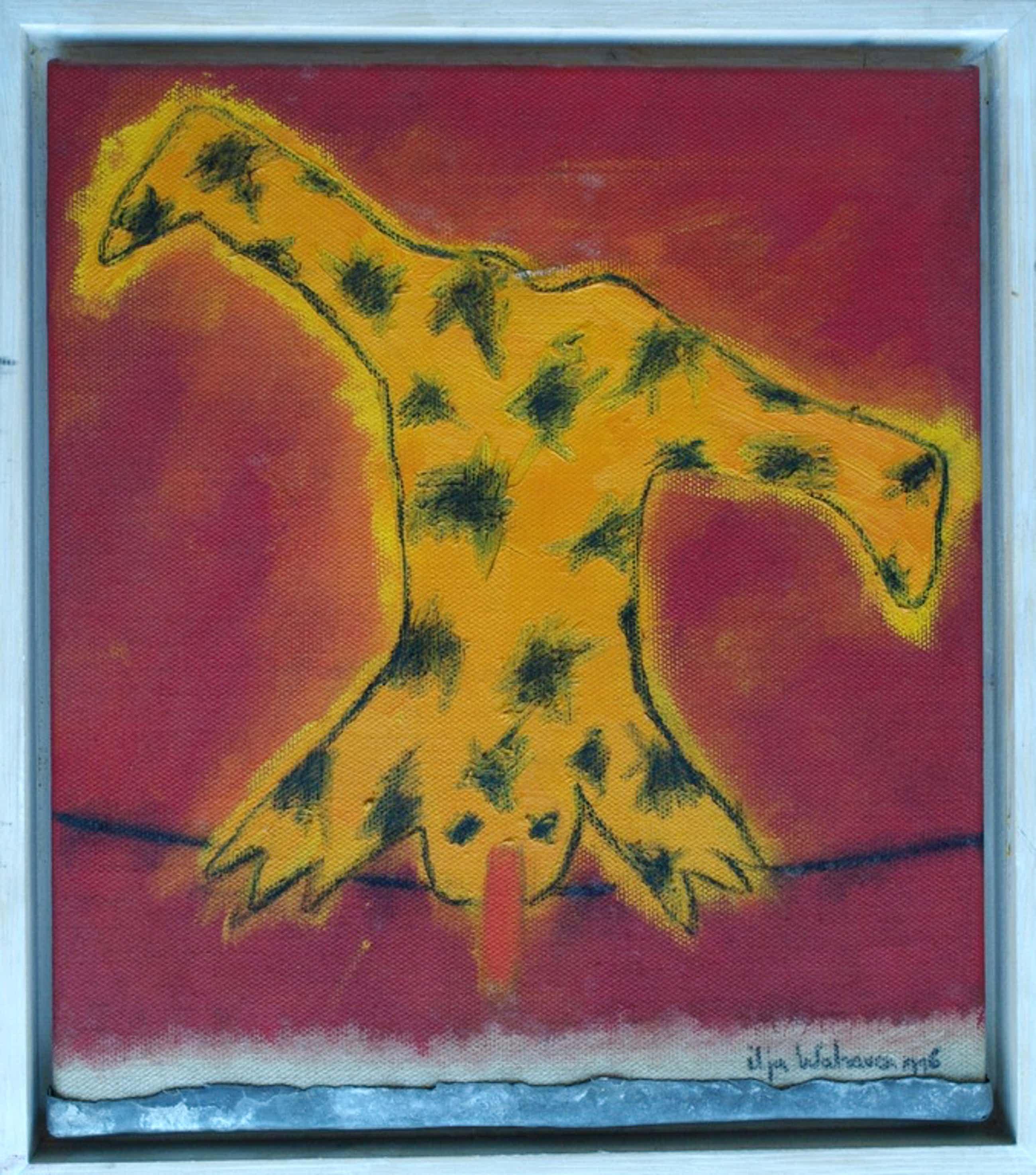Ilja Walraven : Acrylverf en zink , koorddanser 2 � gesigneerd & ingelijst �1996 kopen? Bied vanaf 125!