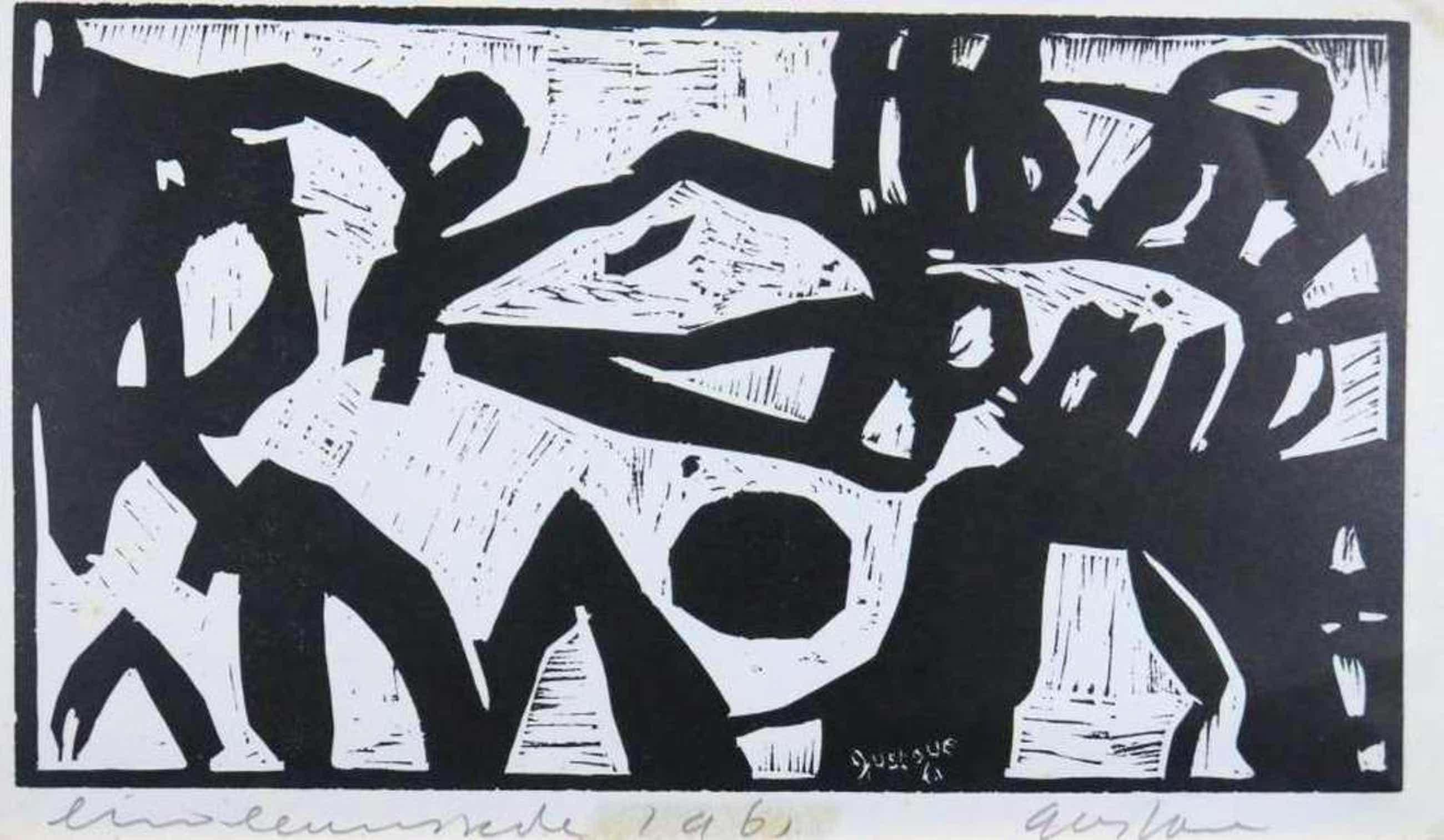 Gustave Asselbergs: Lino, Abstracte compositie kopen? Bied vanaf 40!