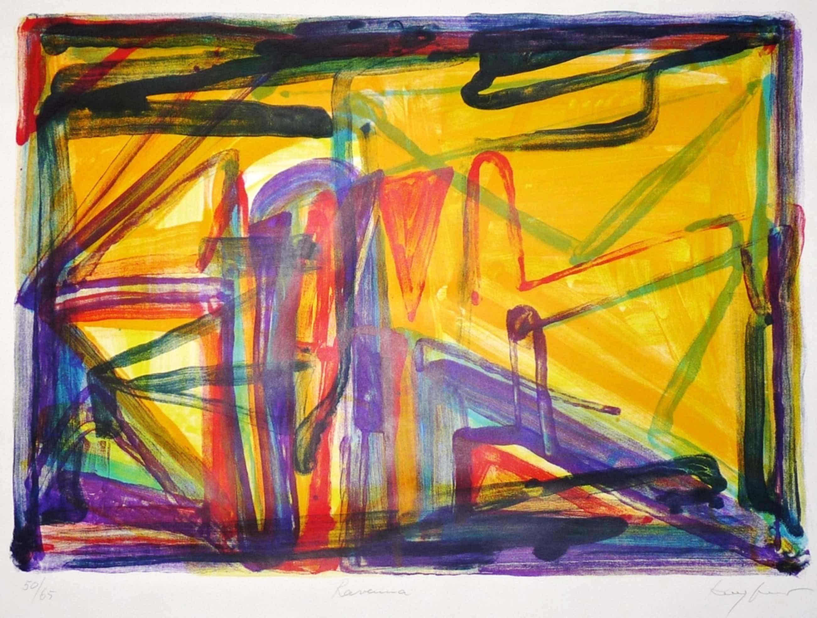 Theo Kuijpers: Lithografie, Abstract, Gesigneerd kopen? Bied vanaf 55!