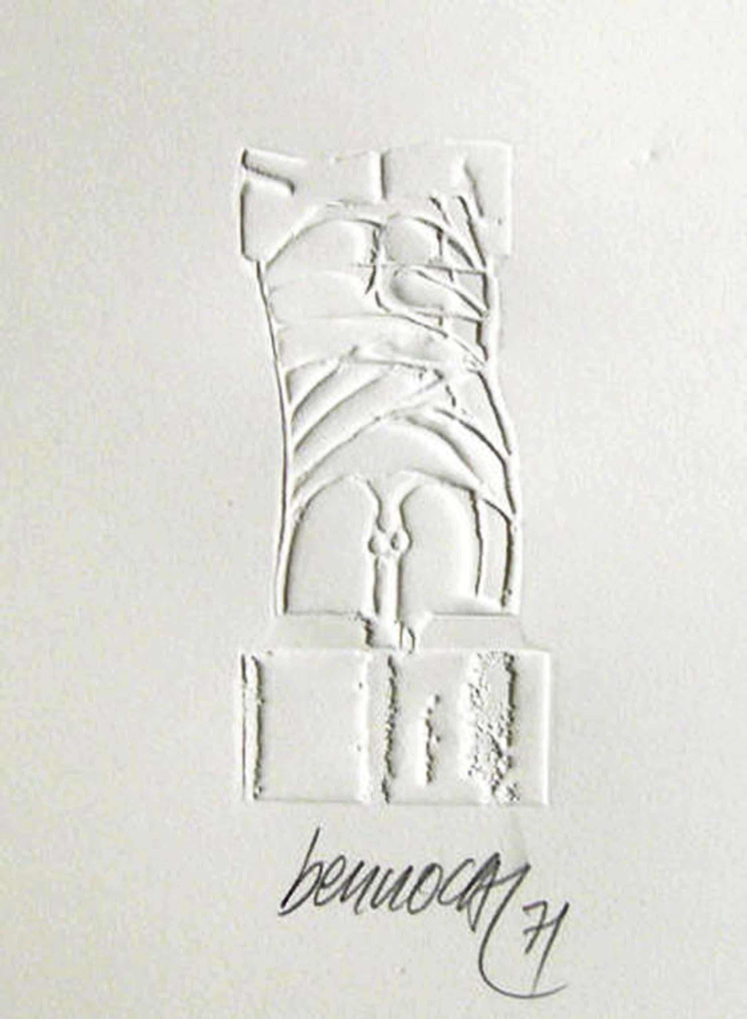 MIGUEL BERROCAL - Prage Druk op Butten Papier - TORSO '' Handgesigneerd en Gedat kopen? Bied vanaf 99!