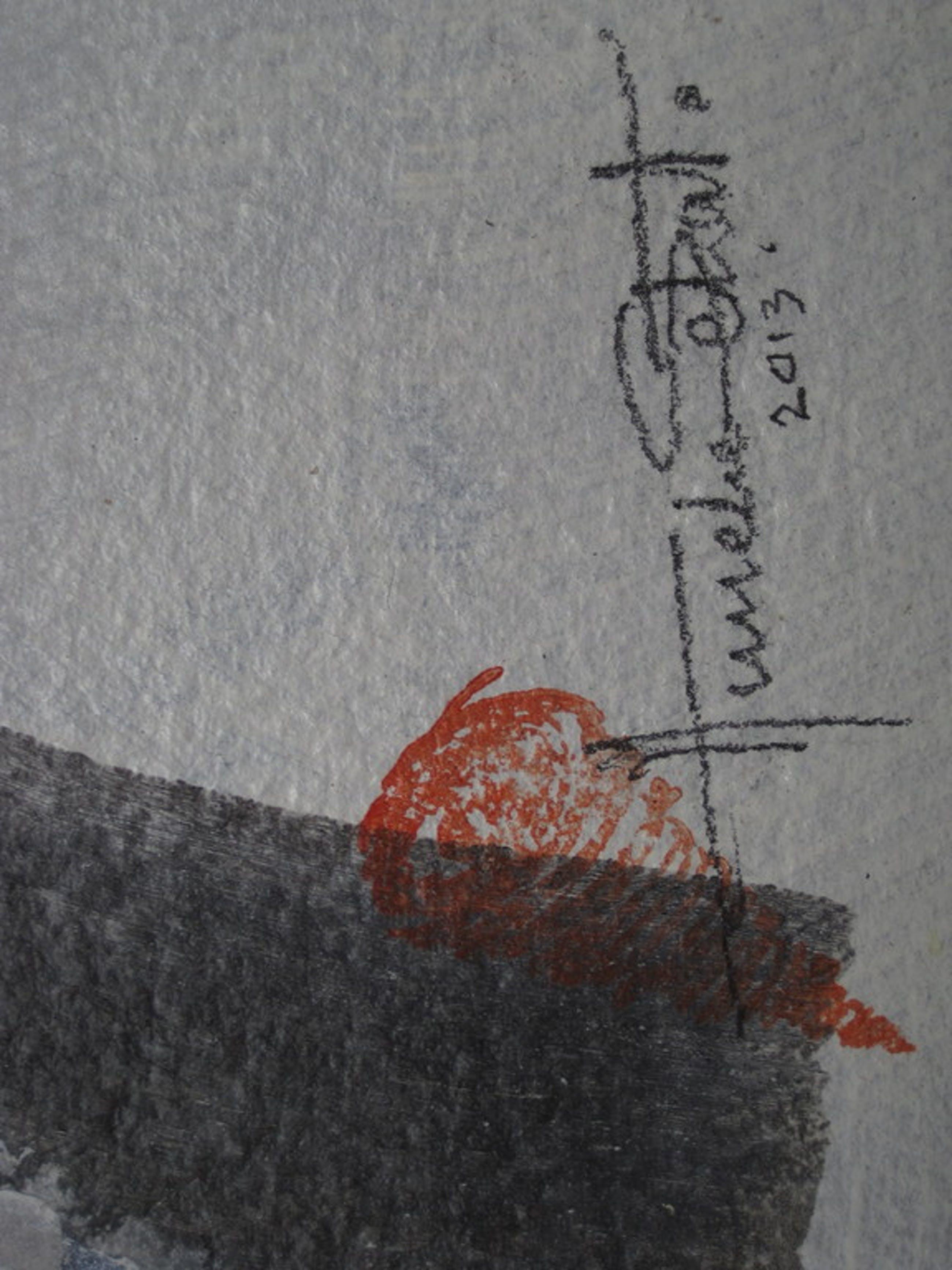 Bijzonder gem. techniek schilderij van televizierring ontwerpster Anneke Schat ! kopen? Bied vanaf 1!