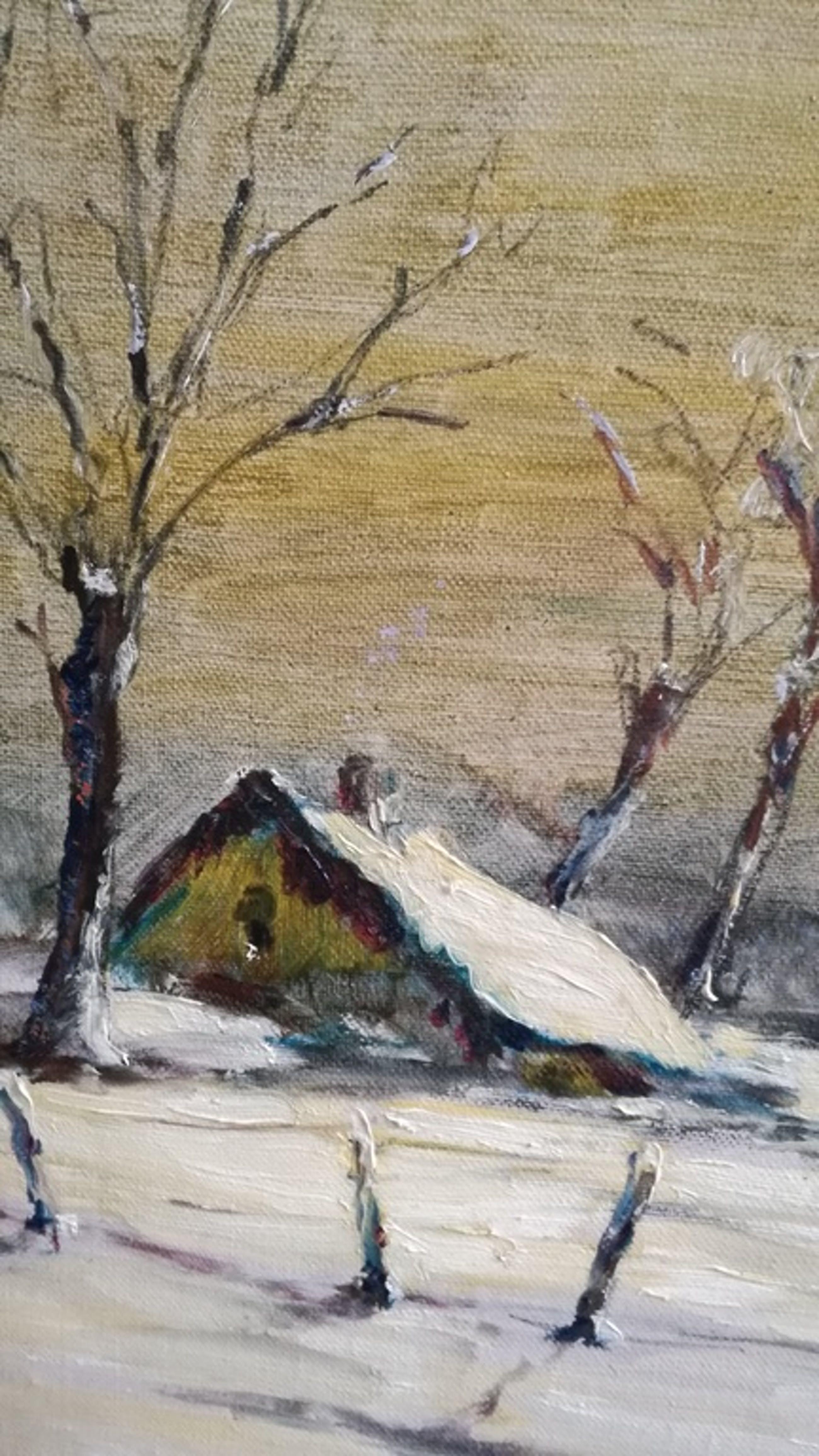 Onbekend kunstenaar, Olieverf op paneel, Winterlandschap kopen? Bied vanaf 1!
