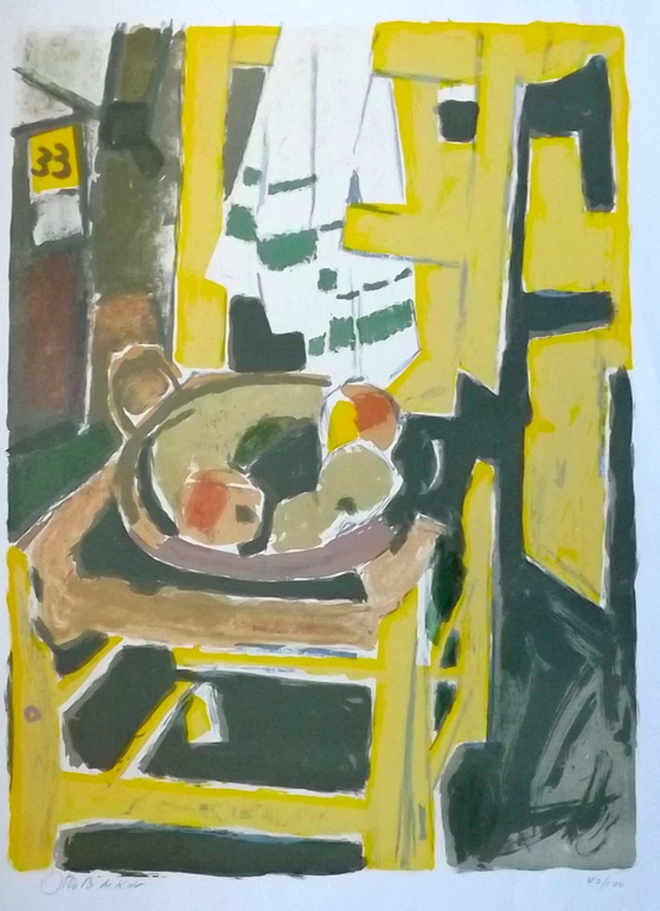 Otto B. de Kat - gesigneerde litho - het gele stoeltje kopen? Bied vanaf 52!
