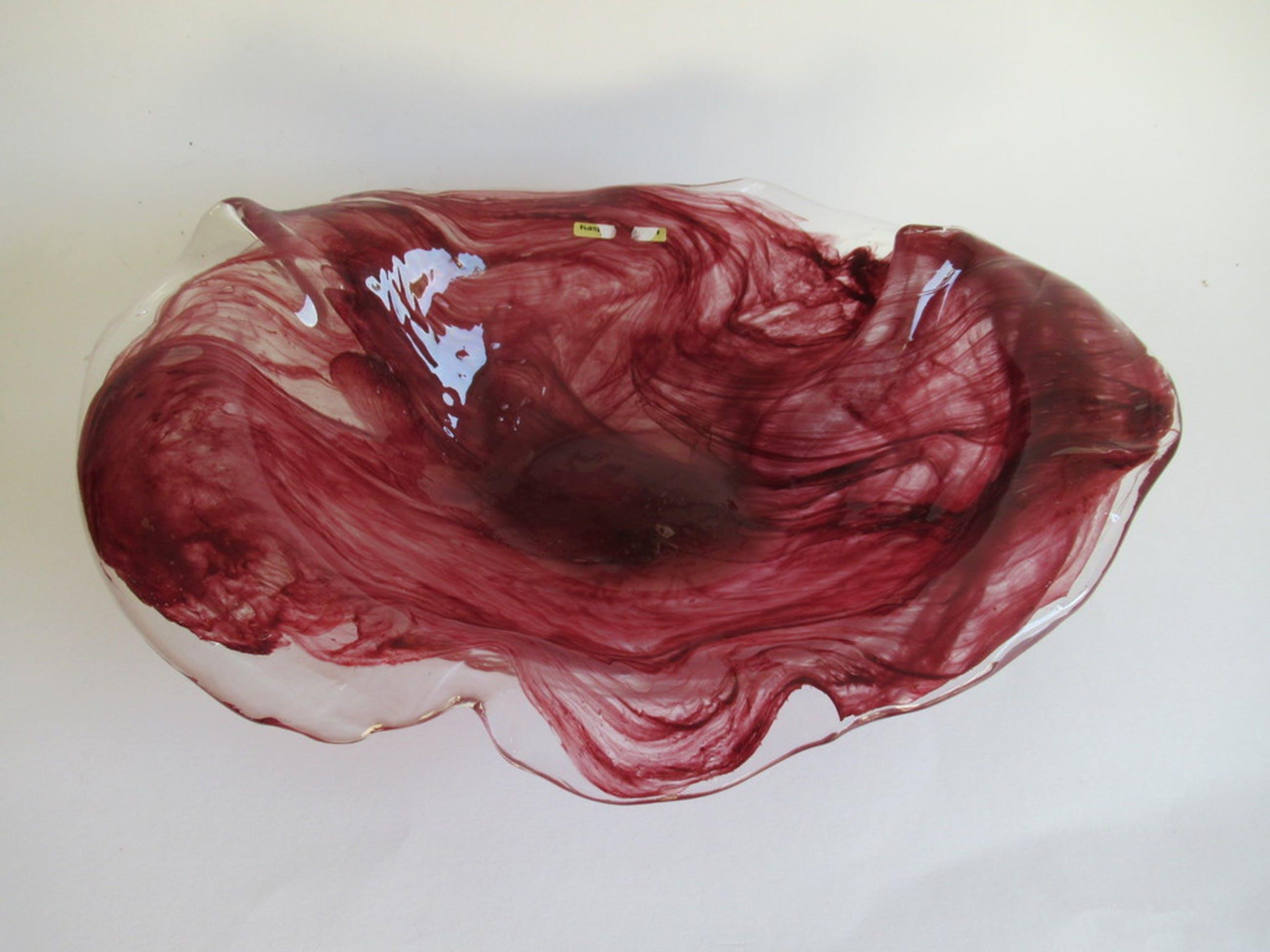 Peter Kaspar single art; unica glazen schaal kopen? Bied vanaf 20!