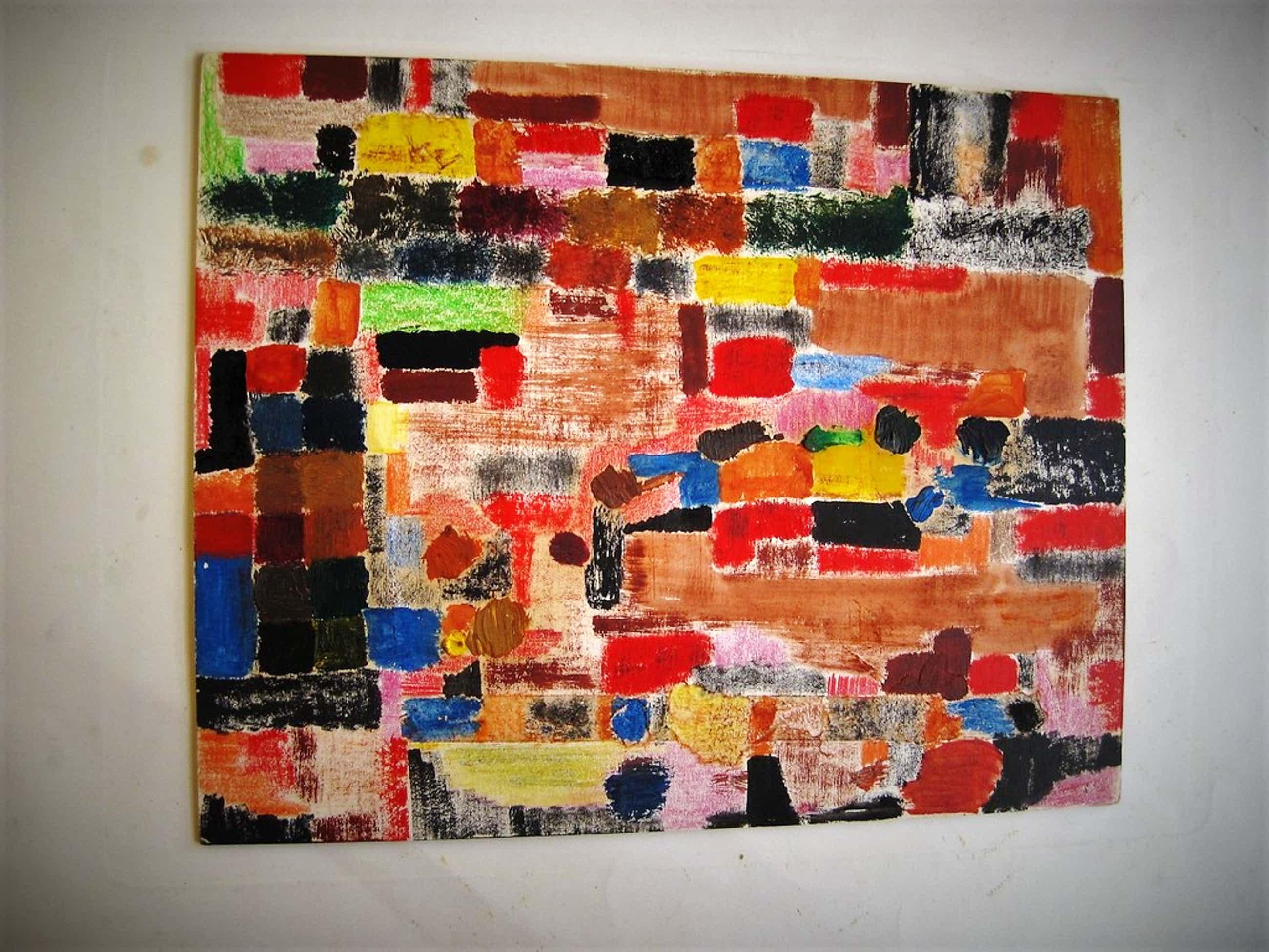"""Originele 1959 Aquarel uit de """"Parijs periode"""" van Ernst Vijlbrief 1934-2010  kopen? Bied vanaf 150!"""