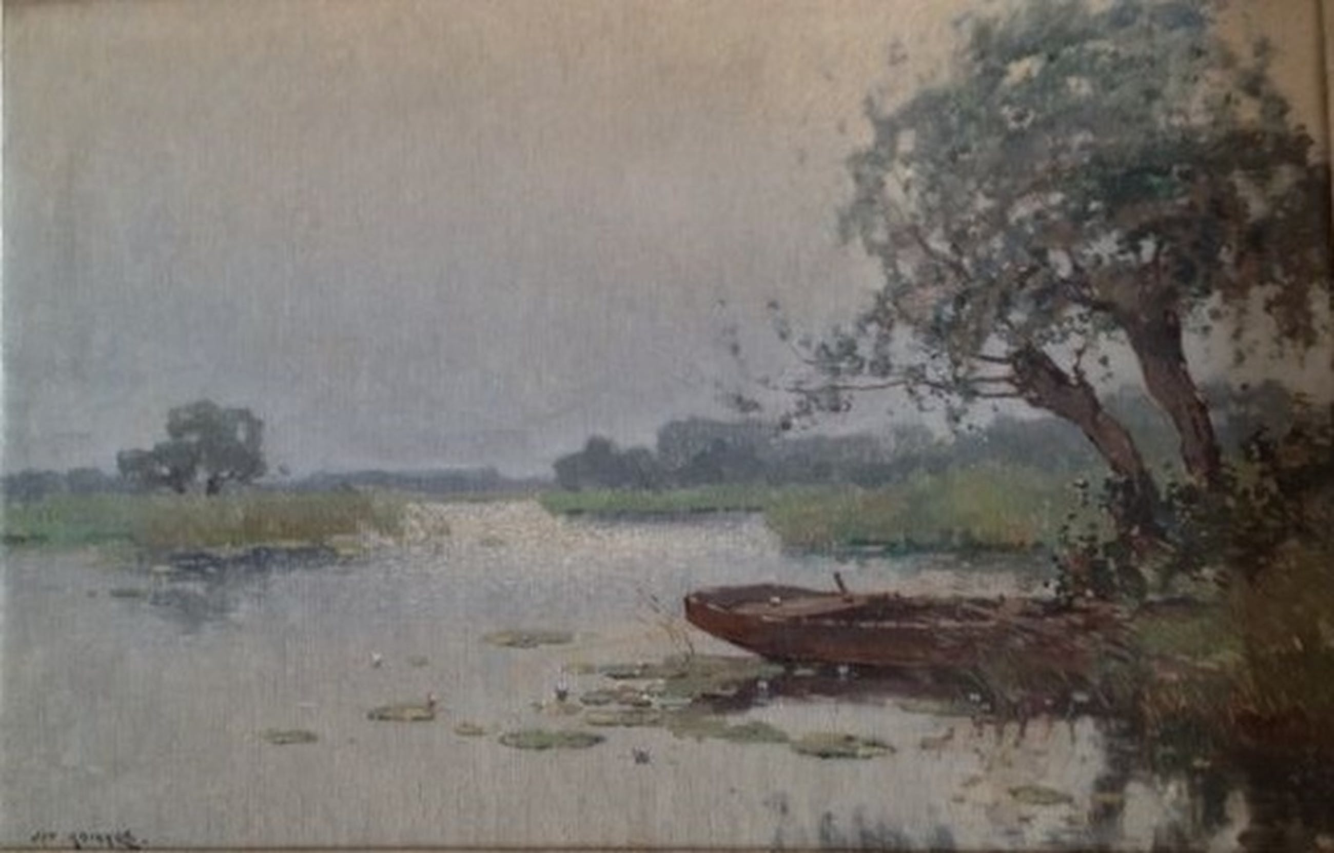 Jan Knikker, Plasgezicht  met roeiboot kopen? Bied vanaf 425!
