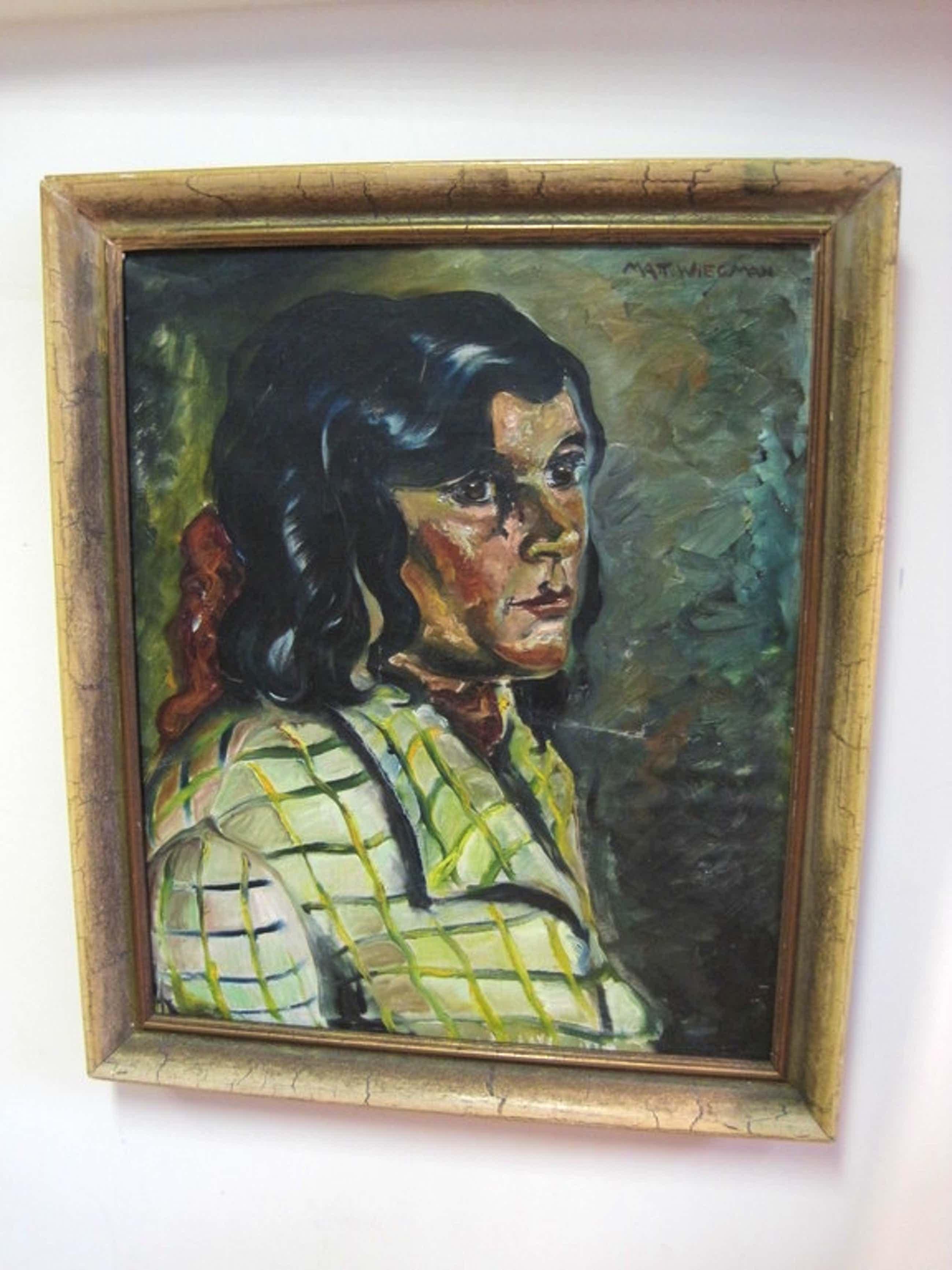 Matthieu Wiegman 1886-1971 Bergense School portret olieverf 1930 kopen? Bied vanaf 270!