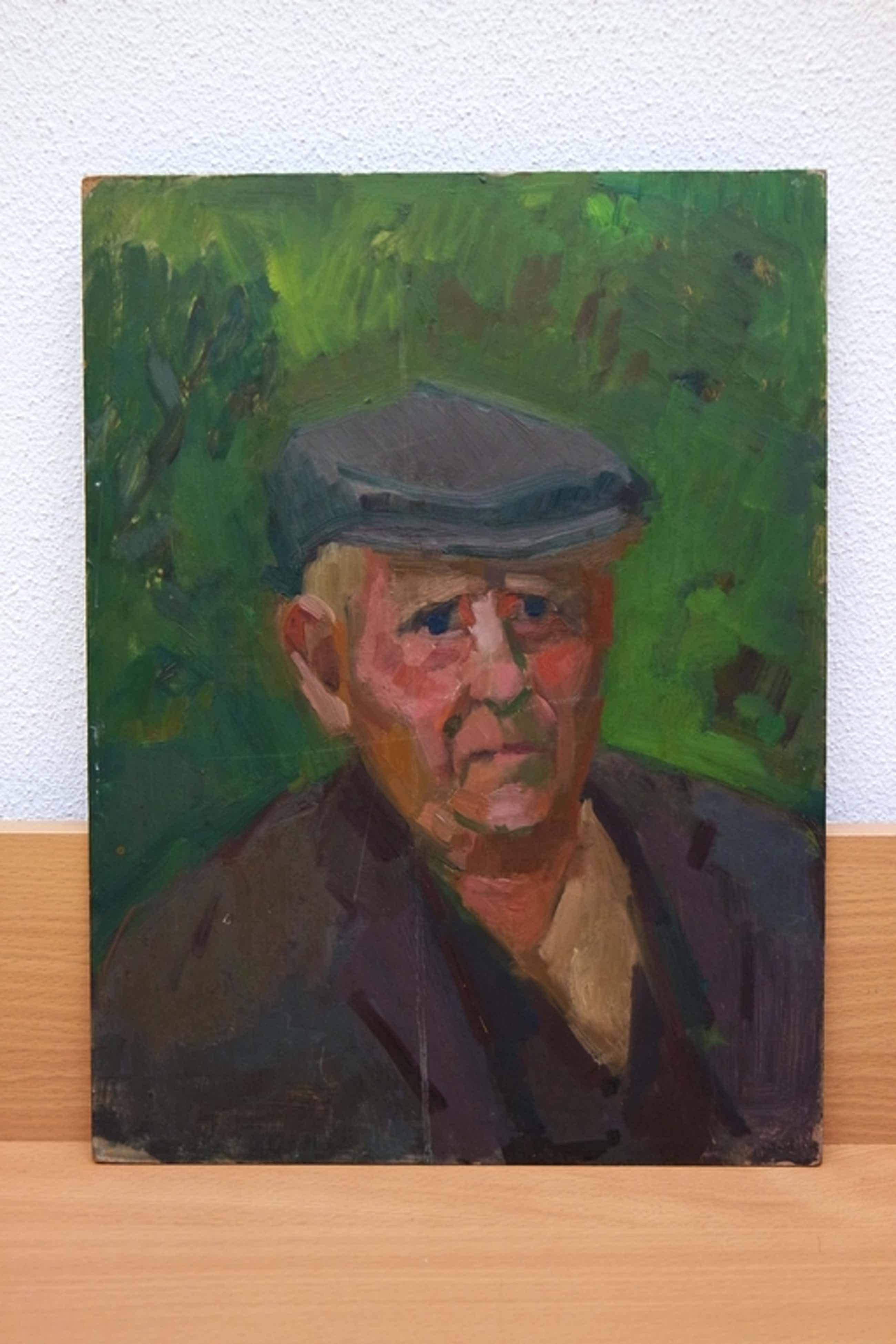 Albert van Dalsum (1889-1971) - olieverf op board - portret van een boer kopen? Bied vanaf 220!