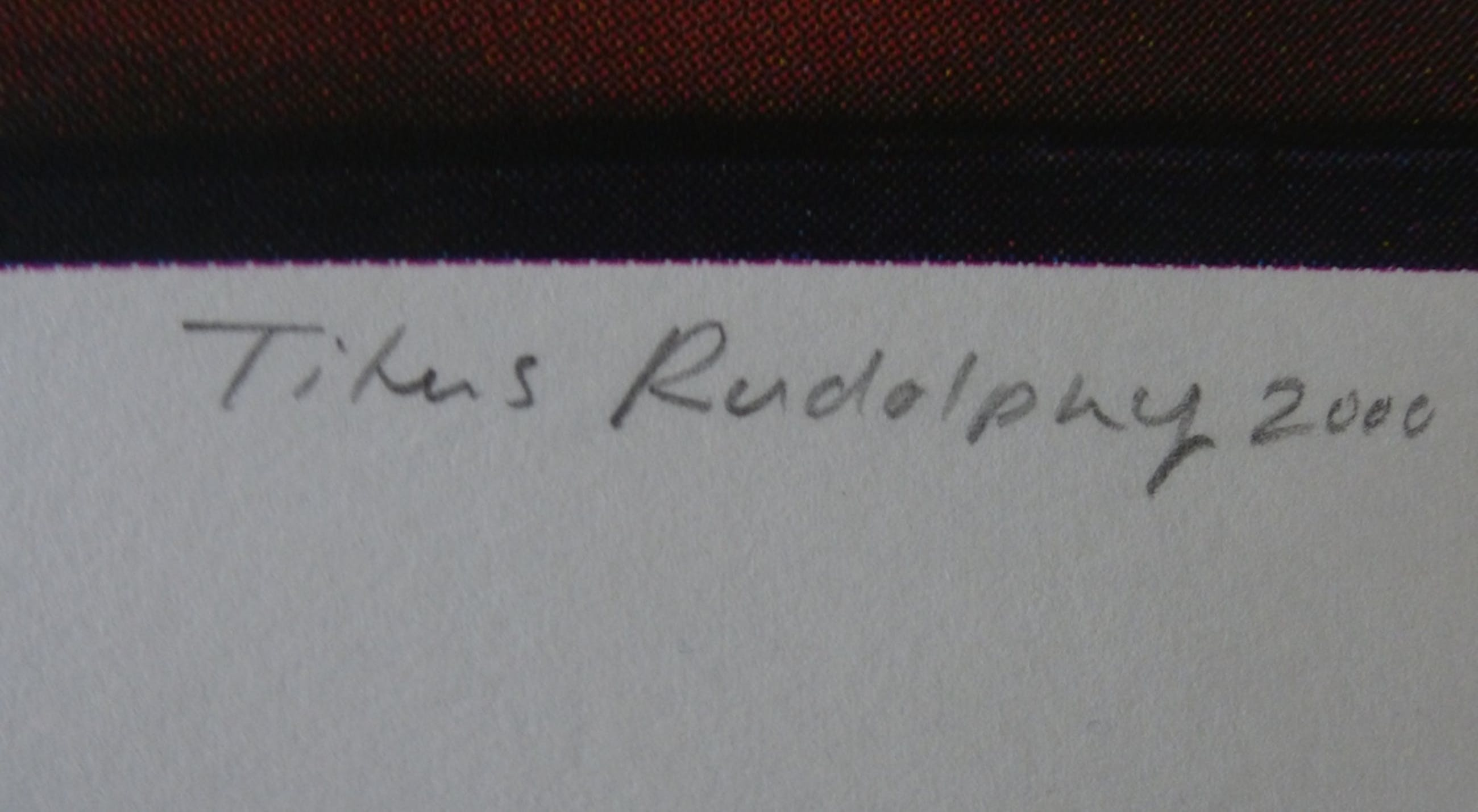 Titus Rudolphy, zeefdruk, handgesigneerd en genummerd, 2000 kopen? Bied vanaf 1!