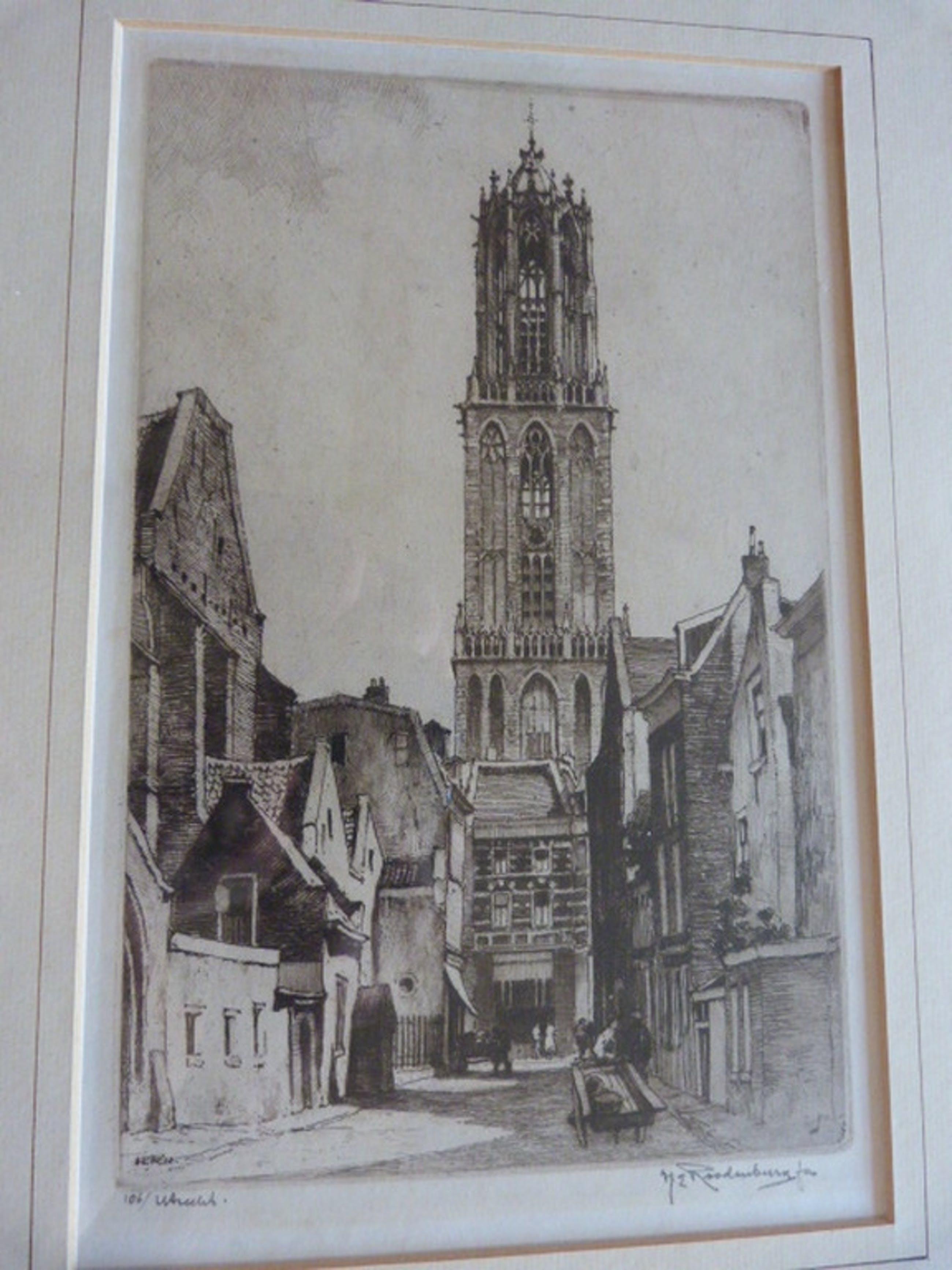 Buurkerkhof, Utrecht,  --- ets uit het jaar 1932. kopen? Bied vanaf 35!