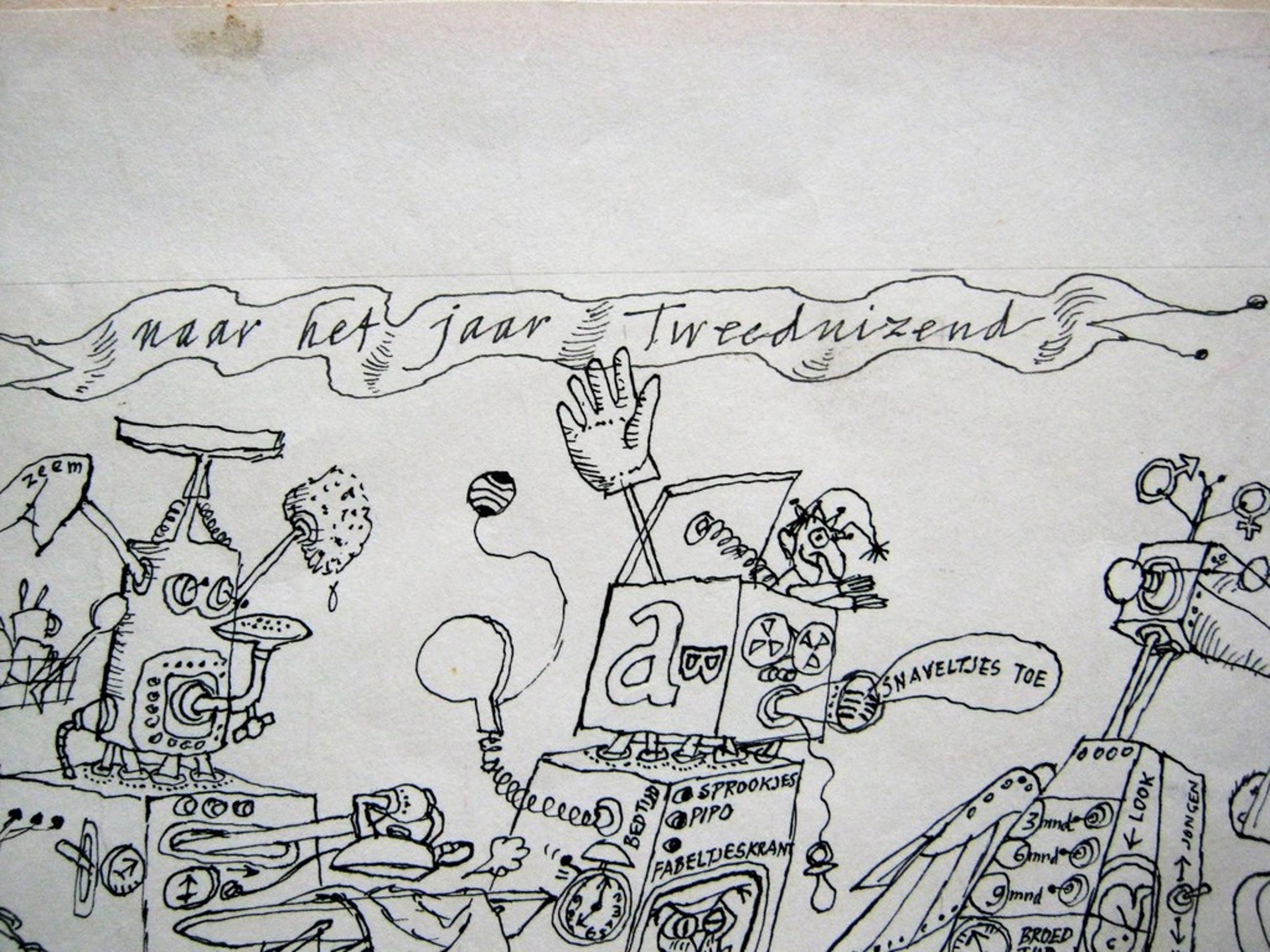 Ton Hoogendoorn  pentekening jaar tweeduizend kopen? Bied vanaf 31!