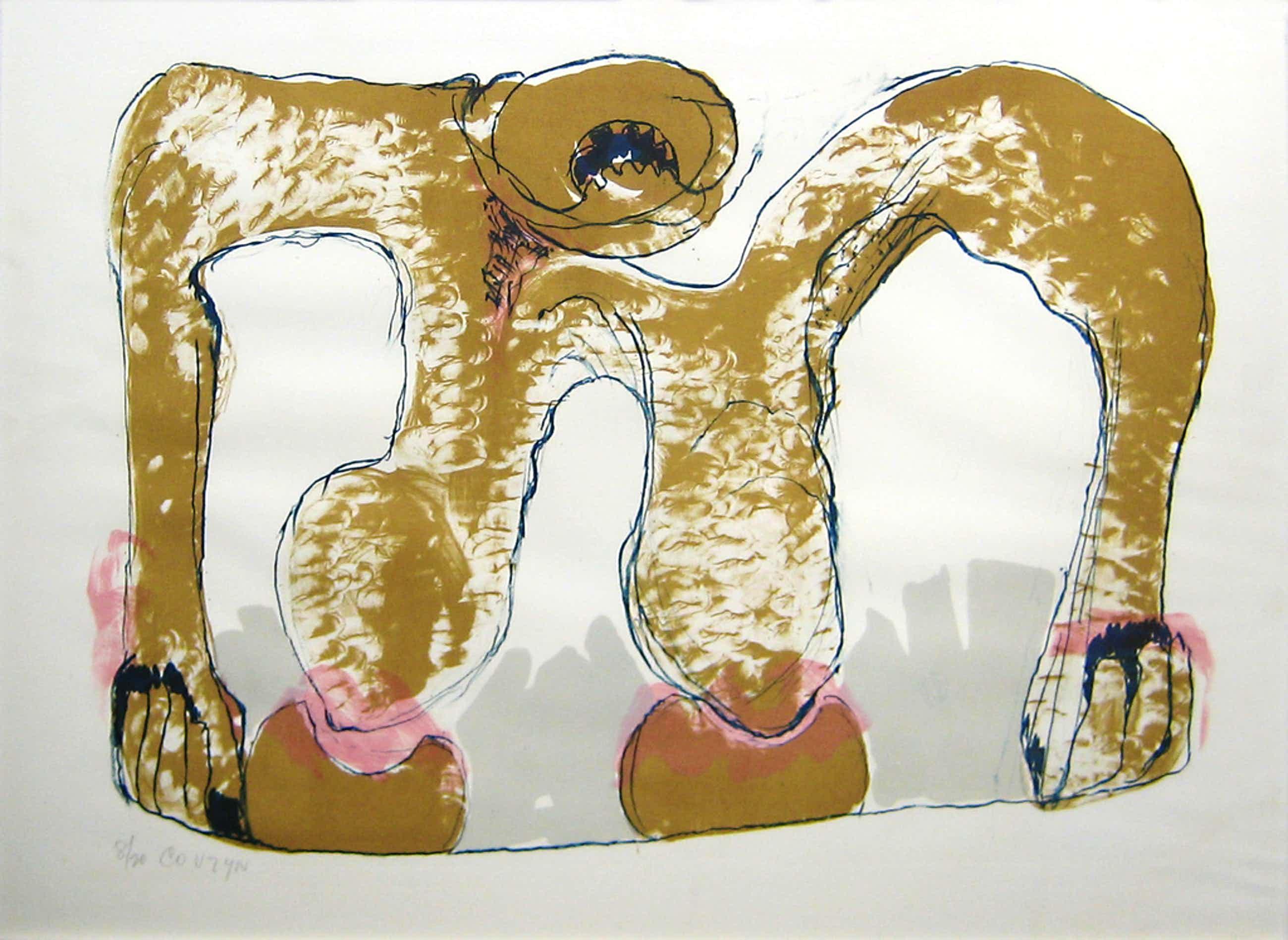 Wessel Couzijn, zeefdruk, zonder titel, ingelijst 56 x 77 cm kopen? Bied vanaf 45!