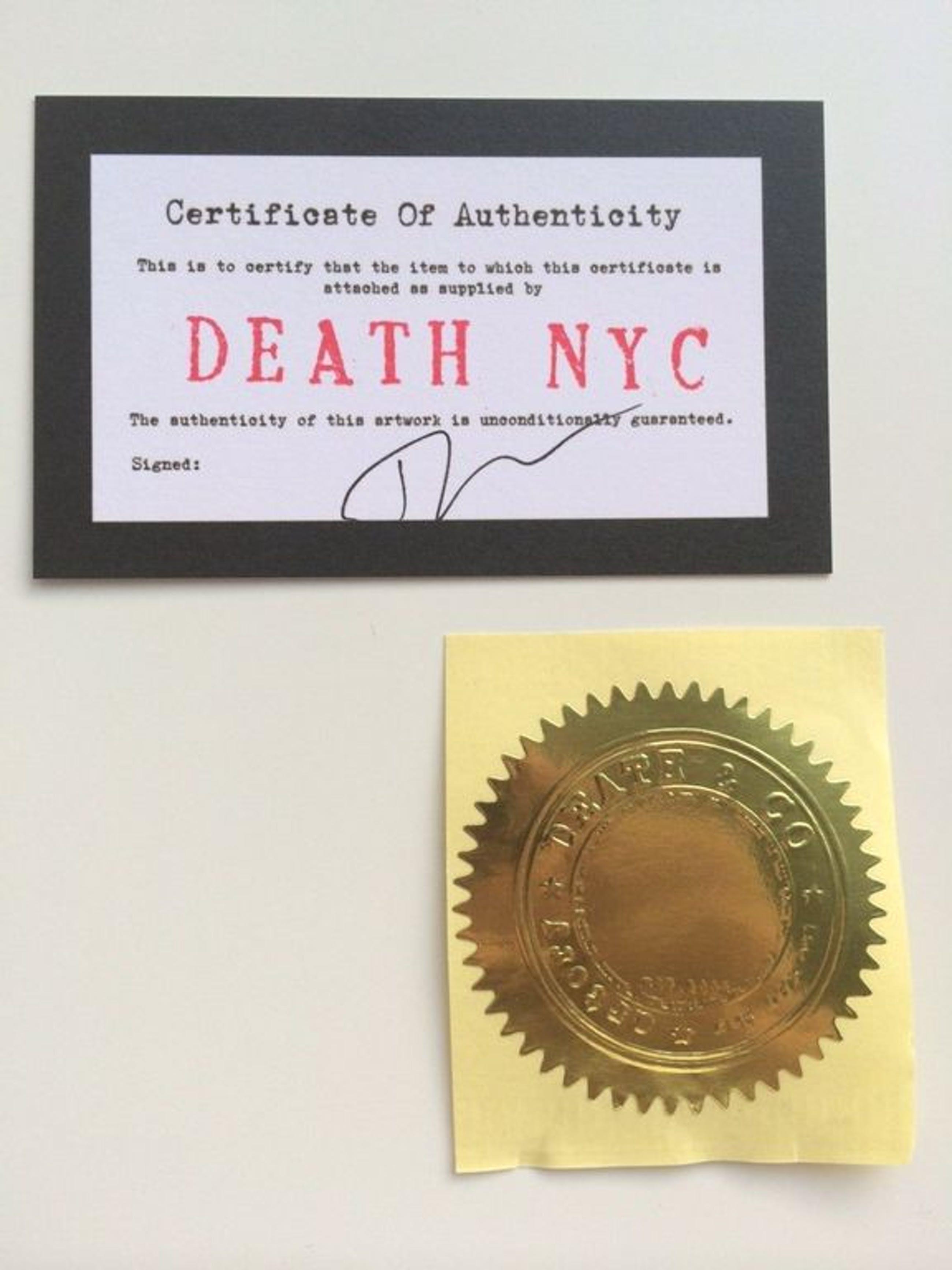 DEATH NYC, street art print painting,  kopen? Bied vanaf 1!