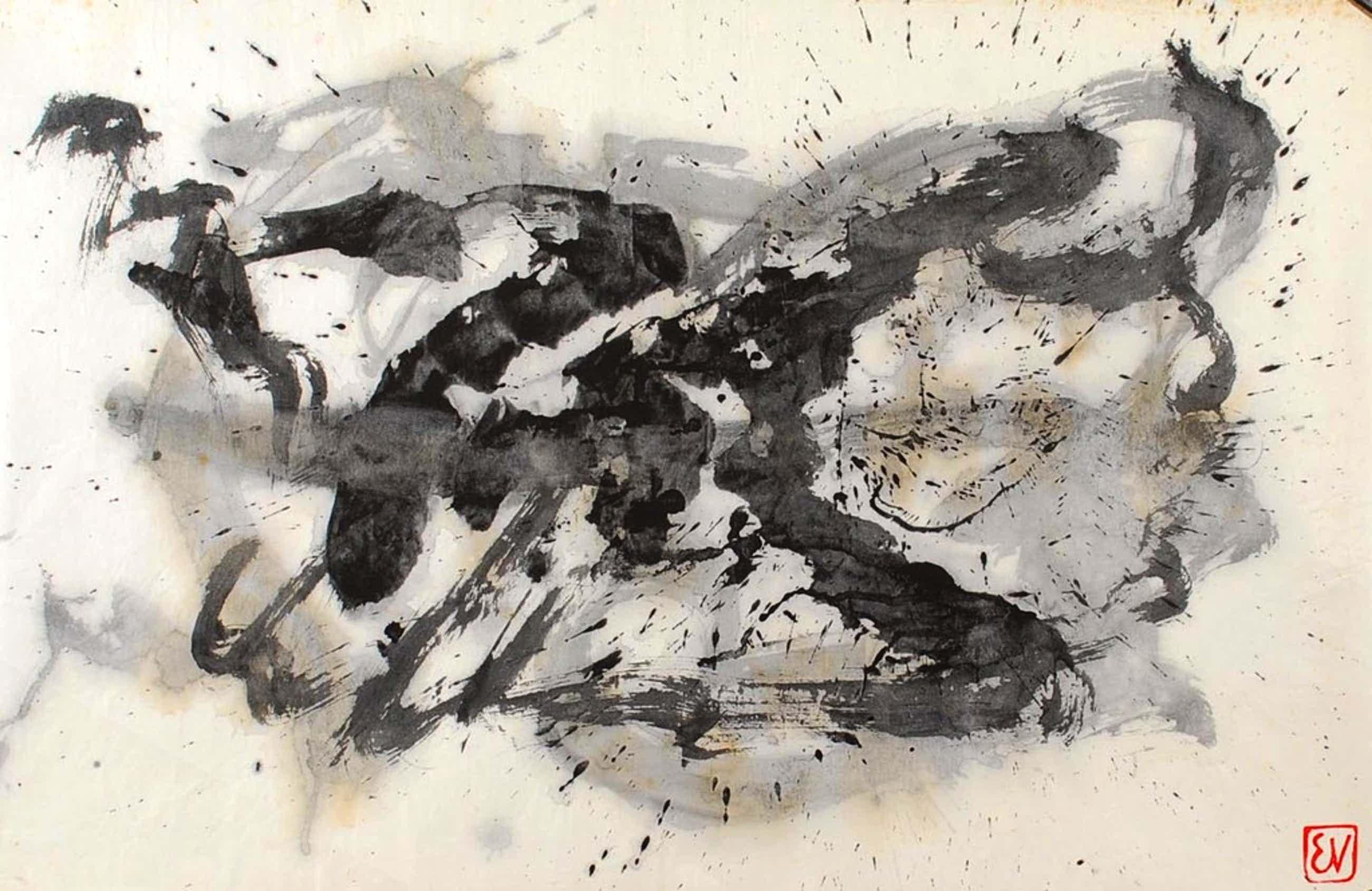 ERNST VIJLBRIEF (1934-2010) inkt op rijstpapier kopen? Bied vanaf 75!