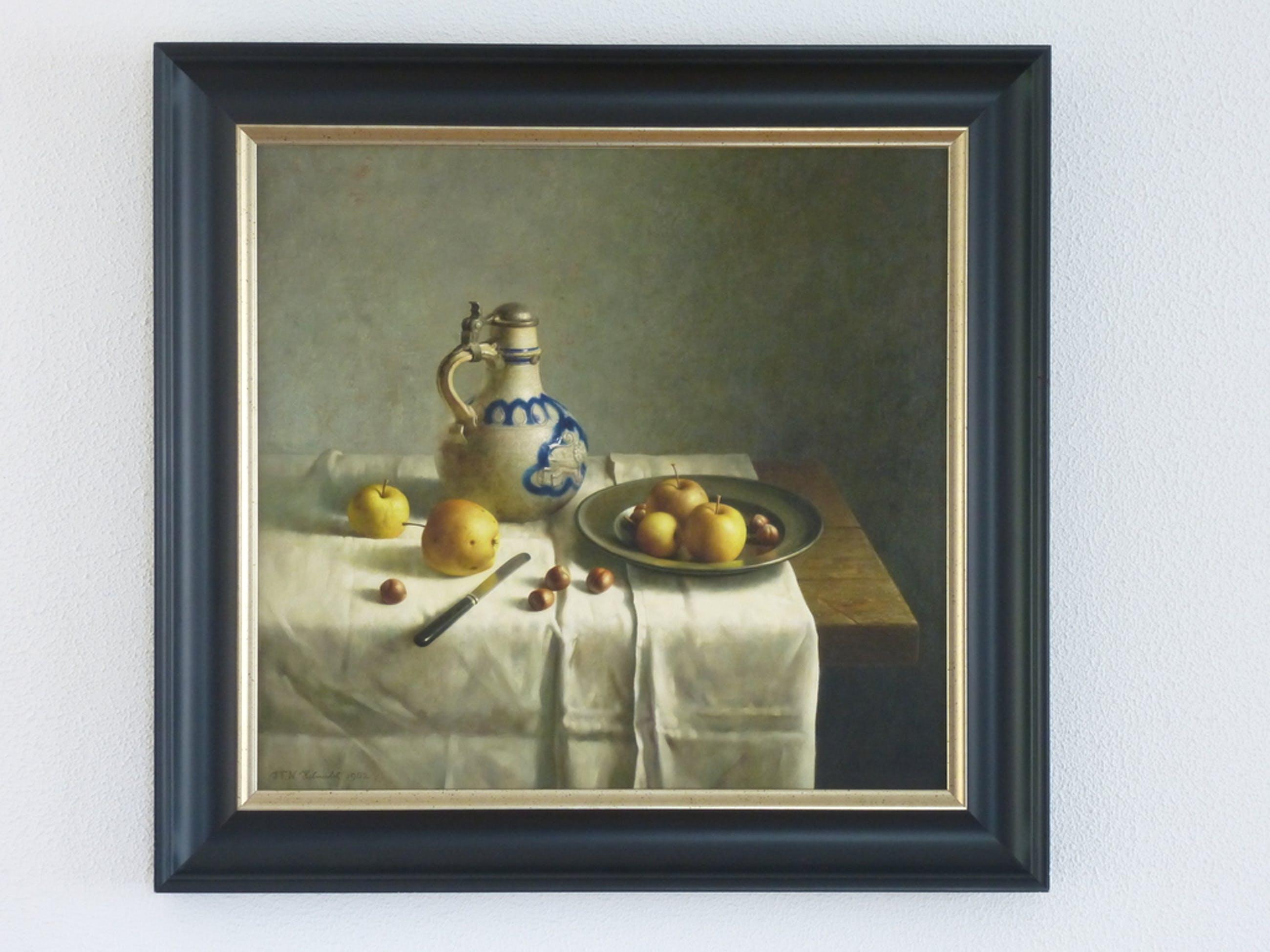 Henk Helmantel: Giclée, appels met aarden kruik kopen? Bied vanaf 350!