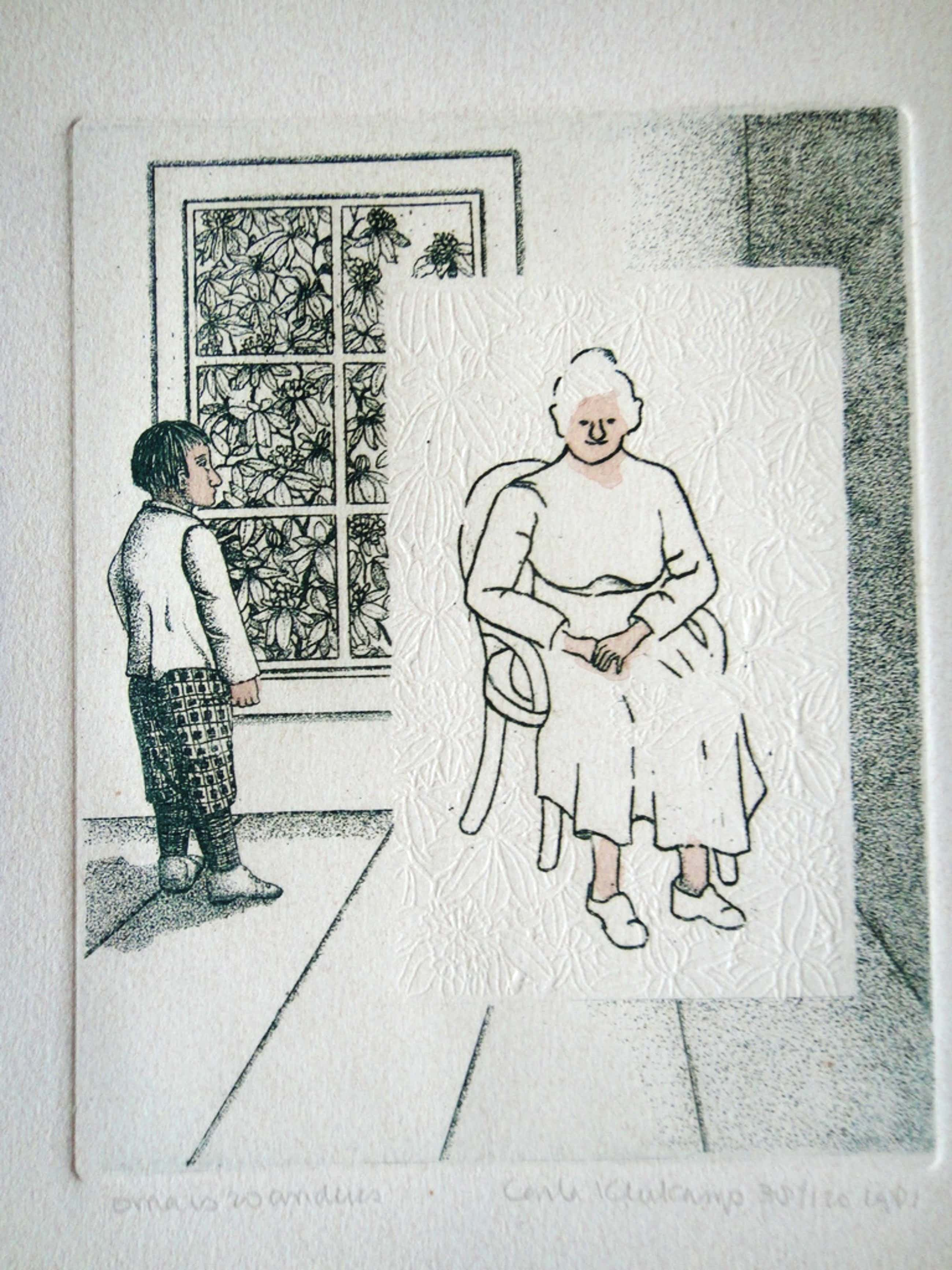 Carla Kleekamp (1937) , kleurenets , 'oma is zo anders' kopen? Bied vanaf 42!