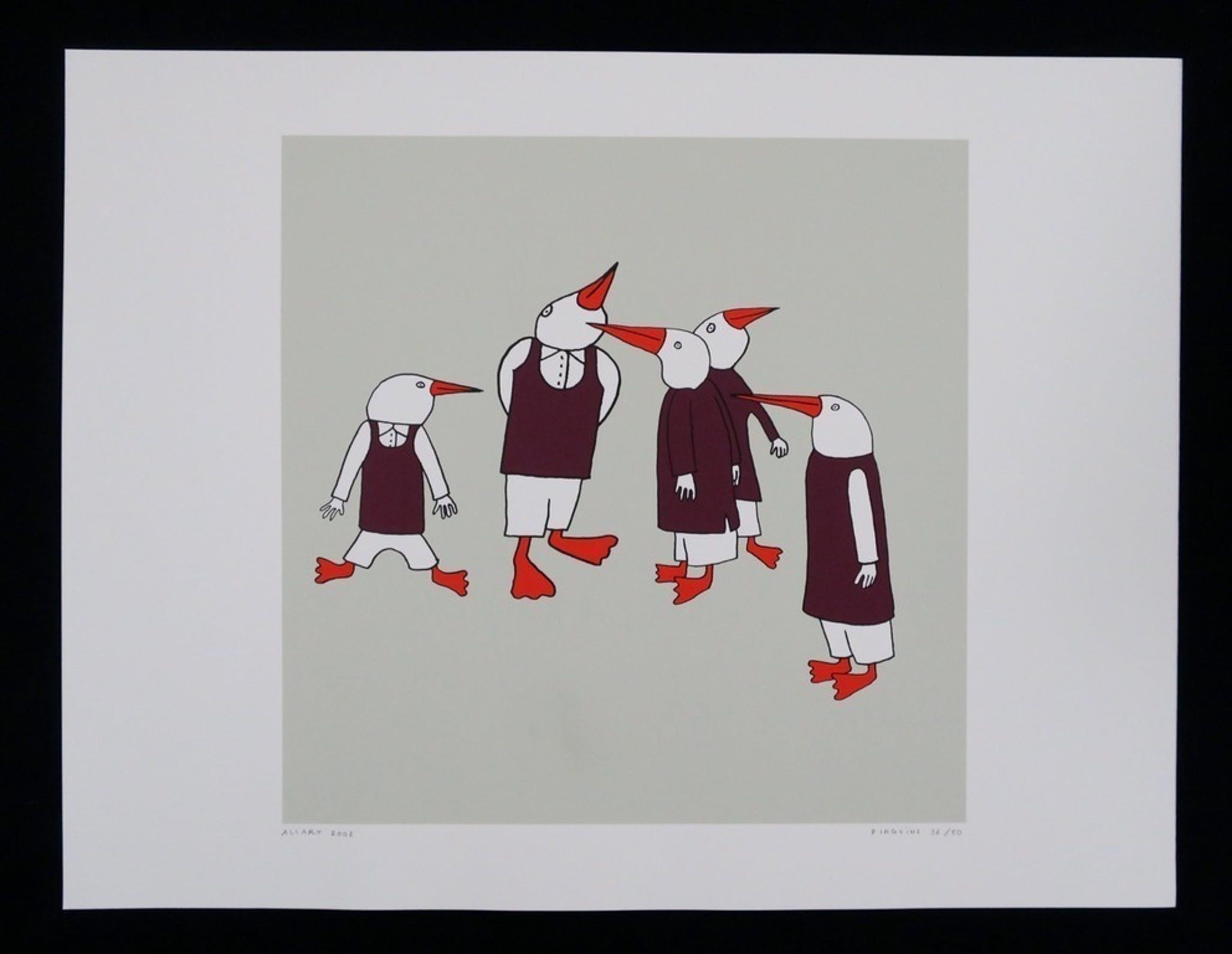 Jeroen Allart: Zeefdruk, Pinguins kopen? Bied vanaf 1!