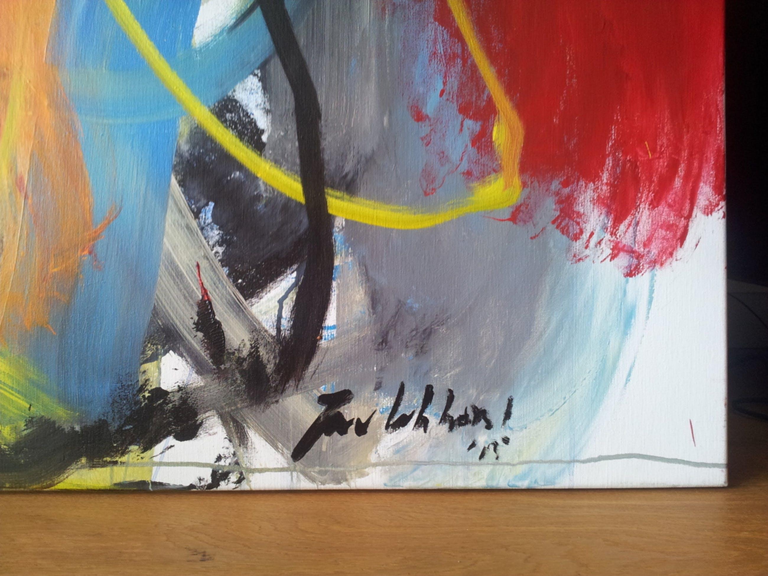 Jan van Lokhorst: Acrylverf op doek, werk zonder titel (JVL-00129) kopen? Bied vanaf 2000!