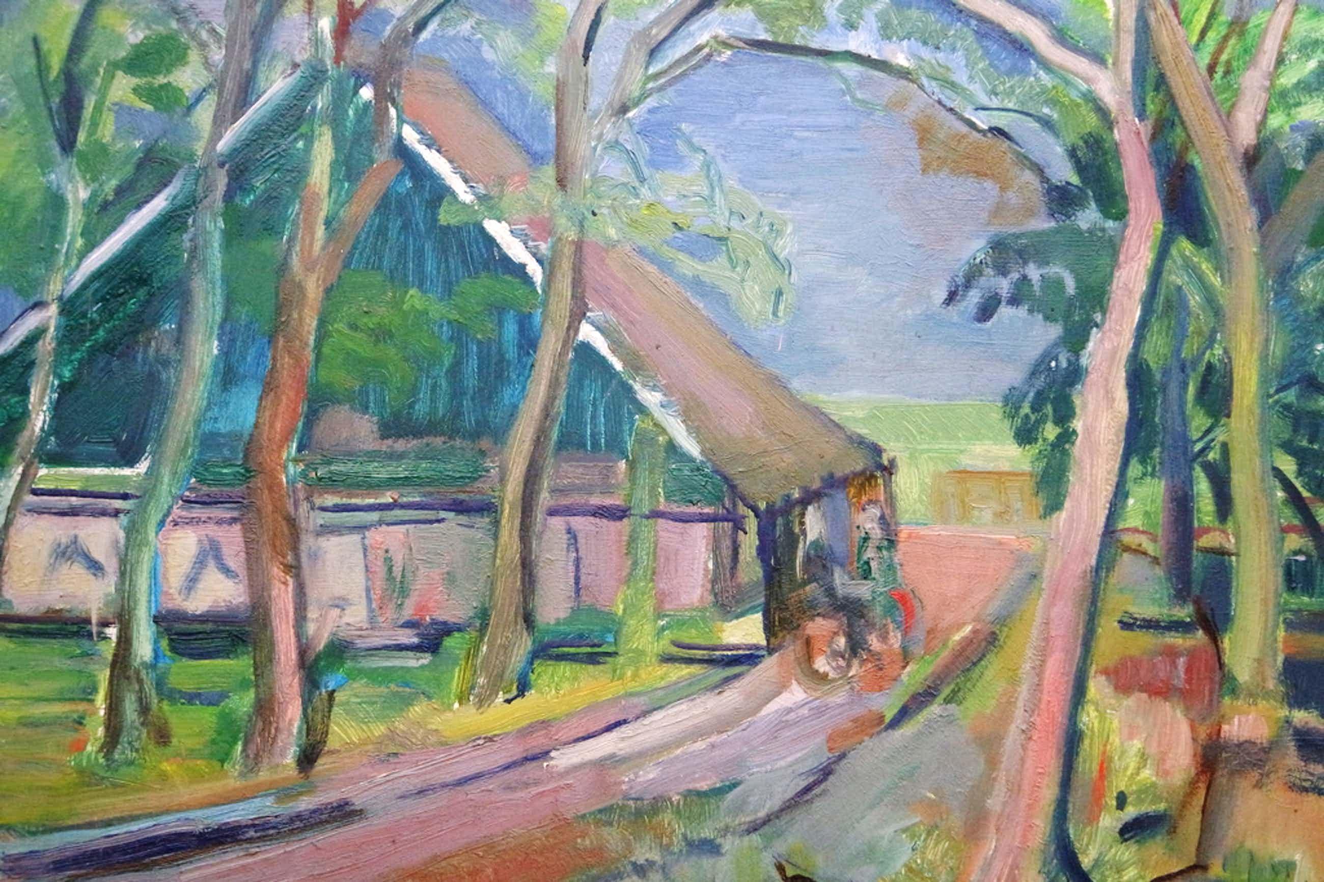 Albert van DALSUM (1889 - 1971) - olieverf op board - landschap met bomen kopen? Bied vanaf 45!