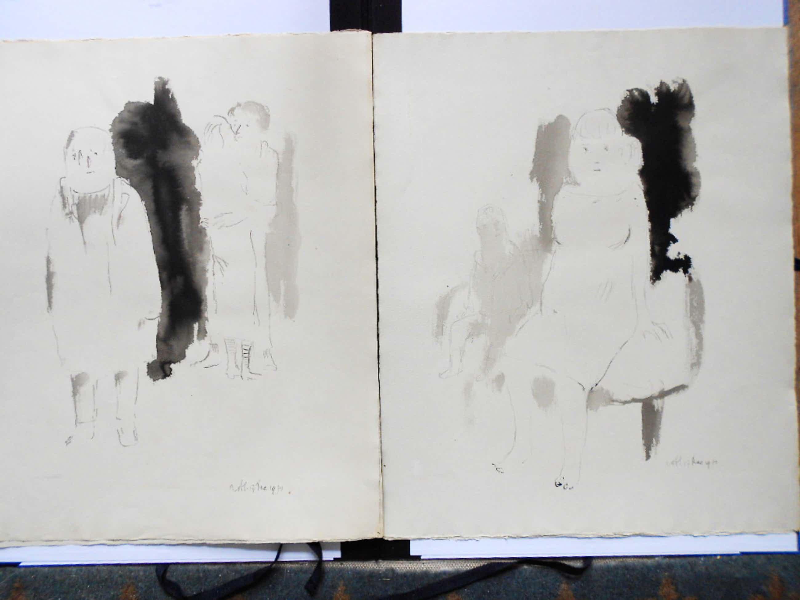 Theo van der Horst 2 oost-indische inkt tekeningen kopen? Bied vanaf 50!