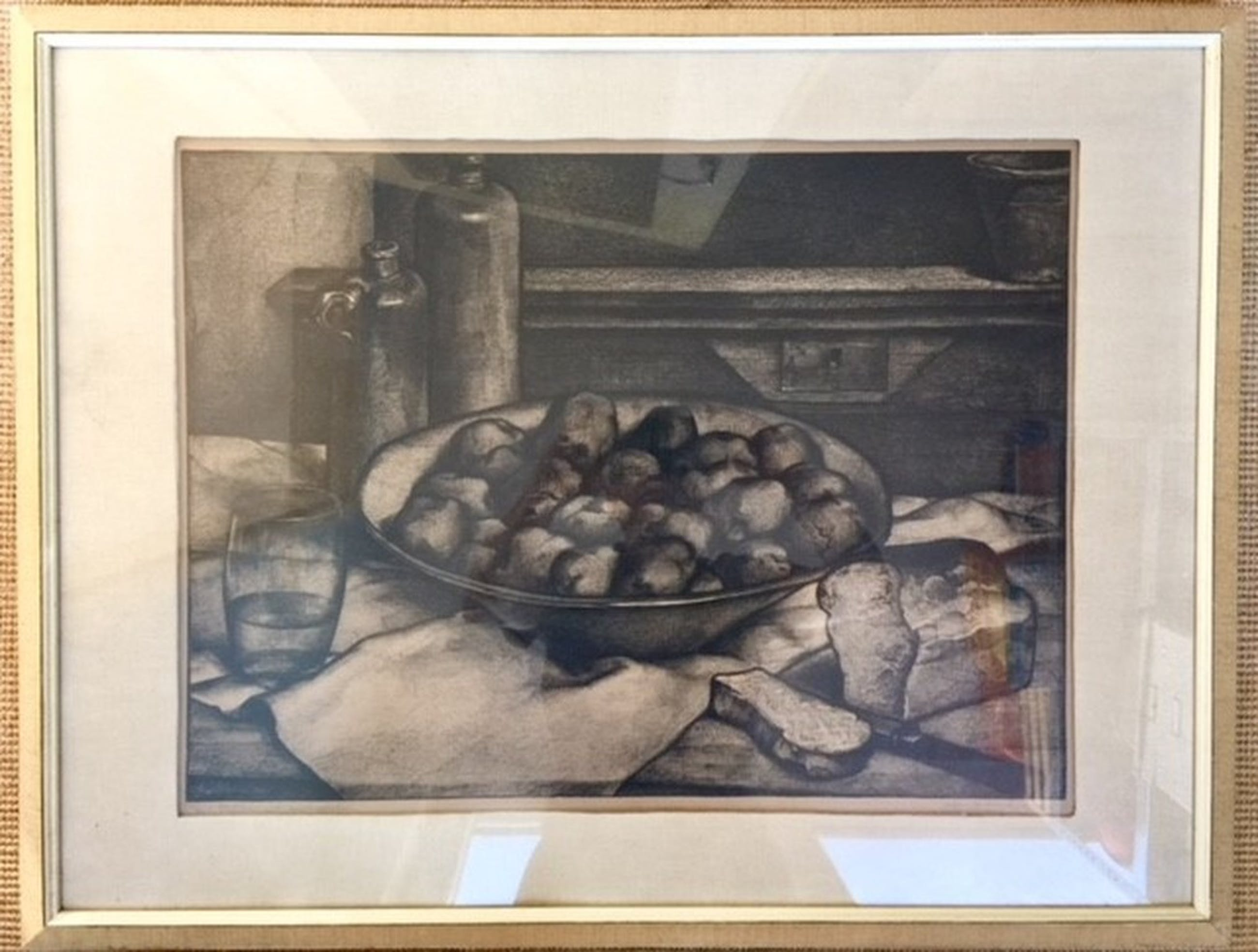 Stilleven met aardappelen, litho, 1930 kopen? Bied vanaf 90!