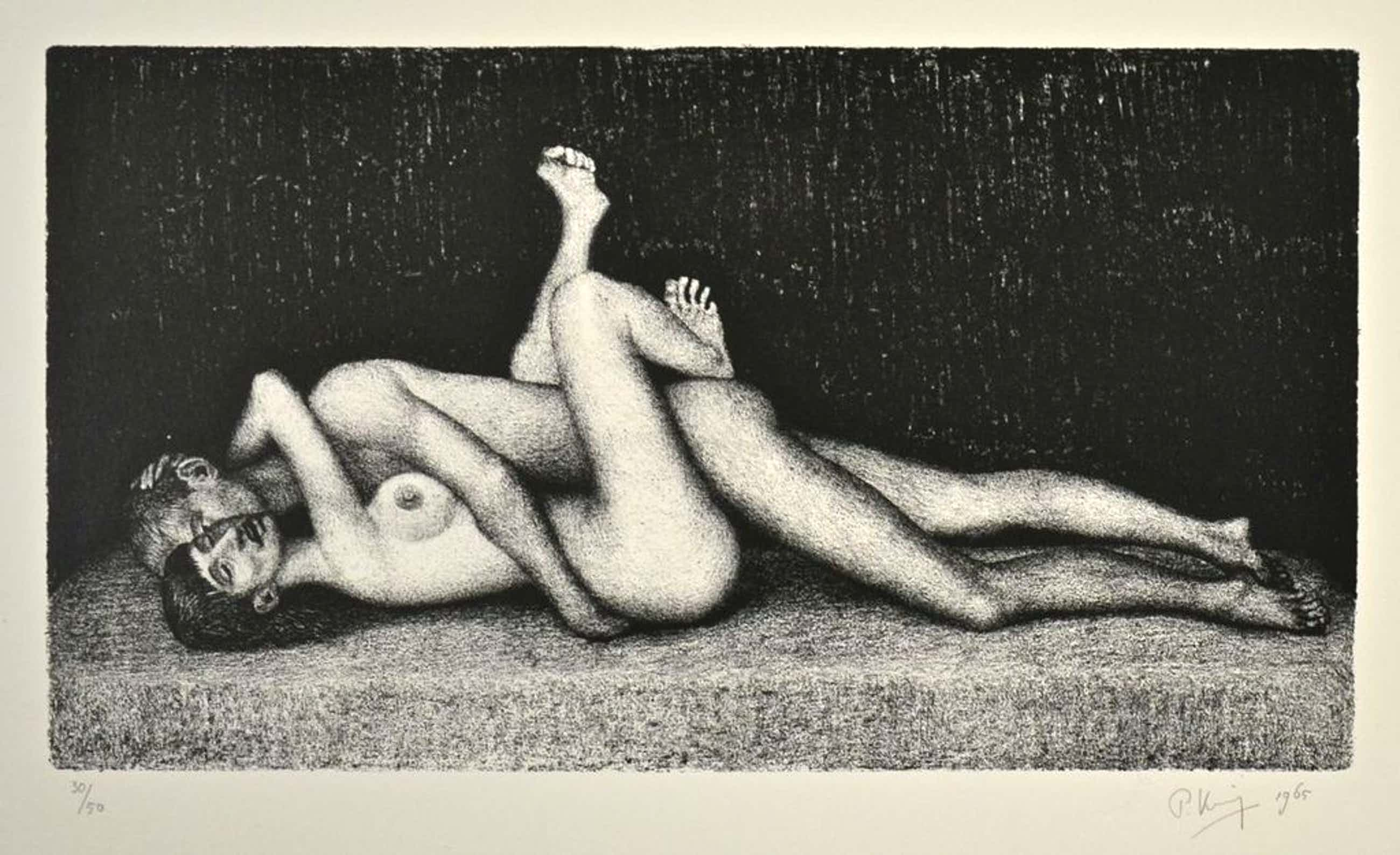 Paul Koning: Litho. Erotische voorstelling. kopen? Bied vanaf 35!