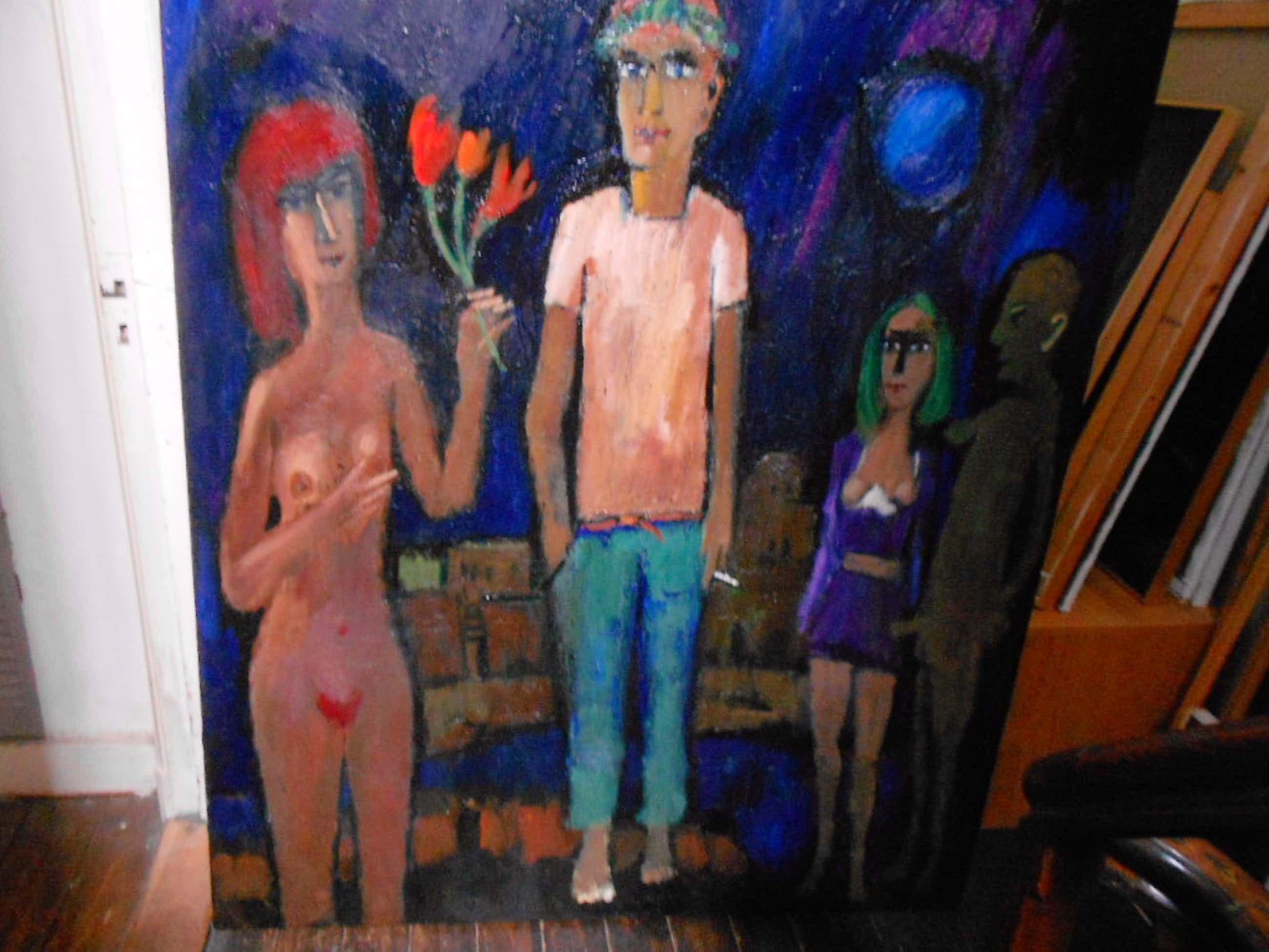 Theo van der Horst GROOT schilderij erotiek kopen? Bied vanaf 175!